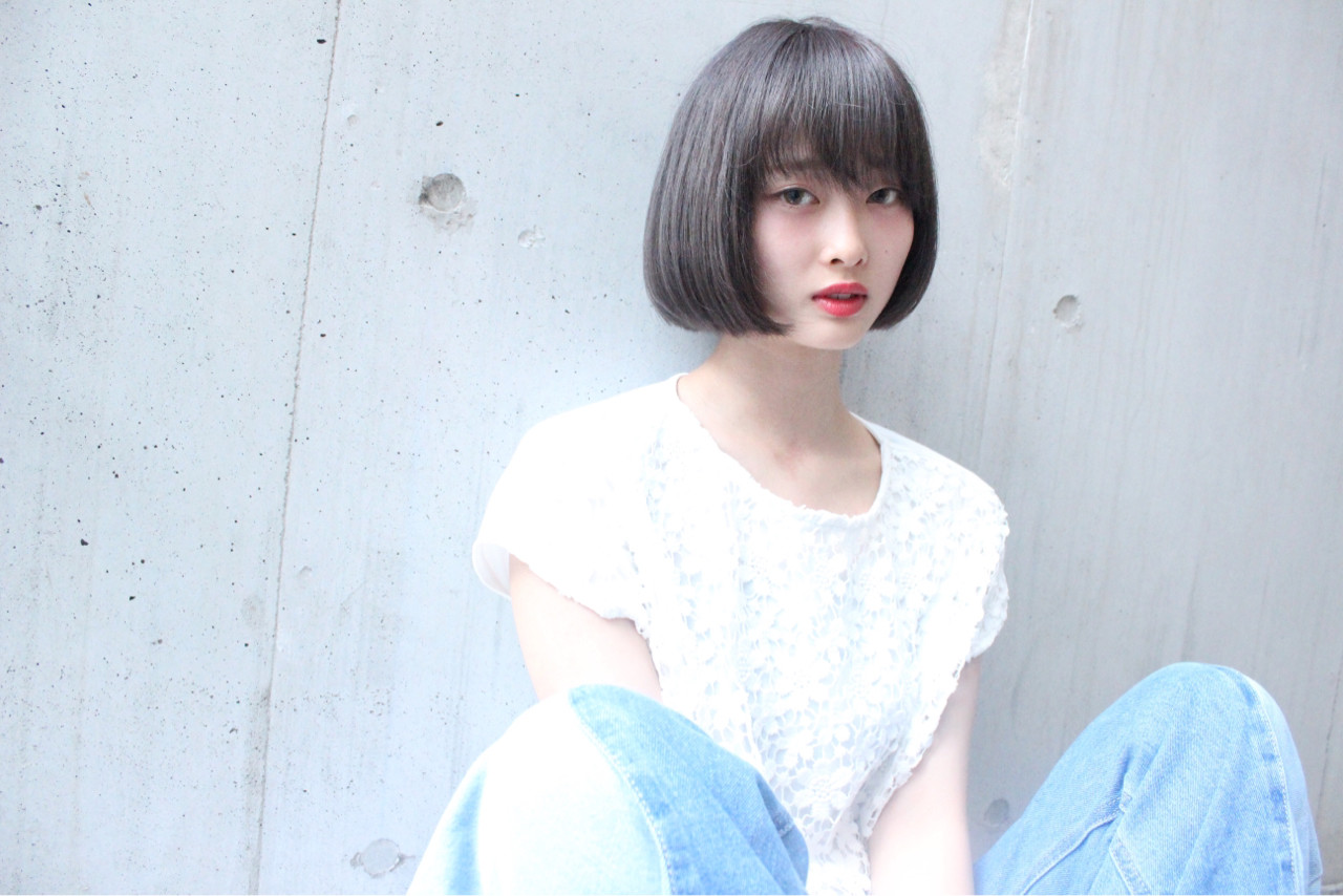 外国人風 大人かわいい ニュアンス ストレート ヘアスタイルや髪型の写真・画像