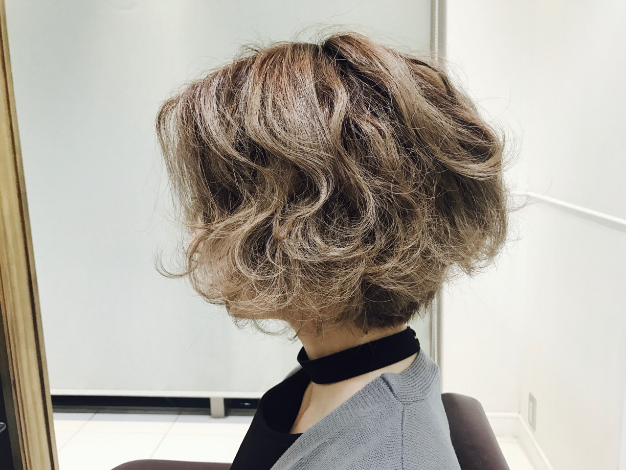 パーマ ストリート ボブ ヘアアレンジ ヘアスタイルや髪型の写真・画像