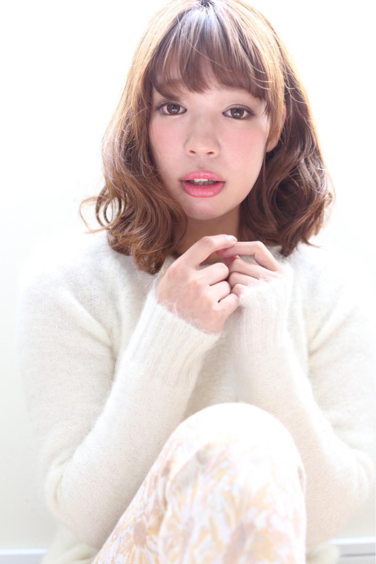 大人かわいい グラデーションカラー ゆるふわ ボブ ヘアスタイルや髪型の写真・画像   黒田 卓磨/musashi / souvenir(スーベニール)