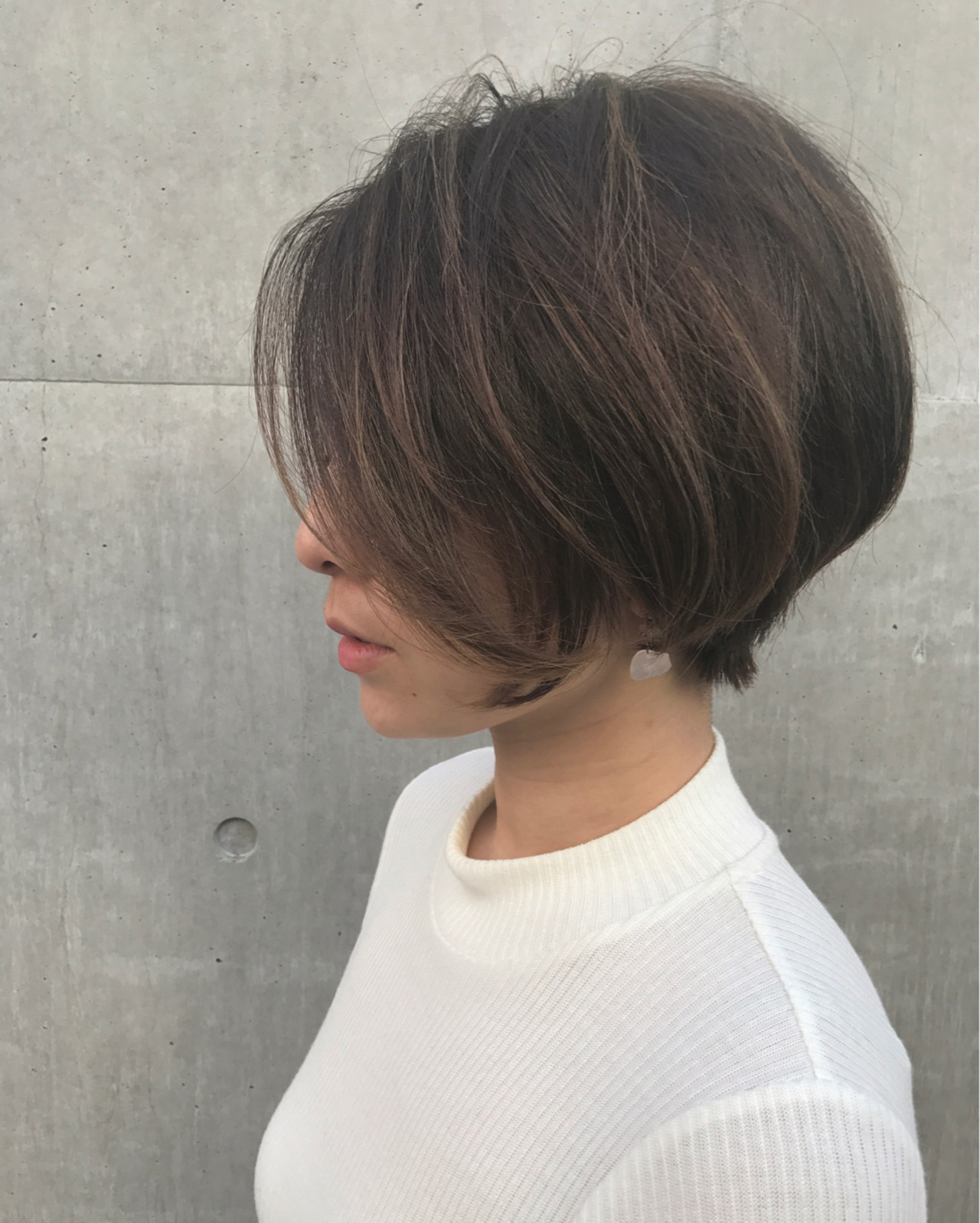 ショート 冬 大人女子 ナチュラル ヘアスタイルや髪型の写真・画像