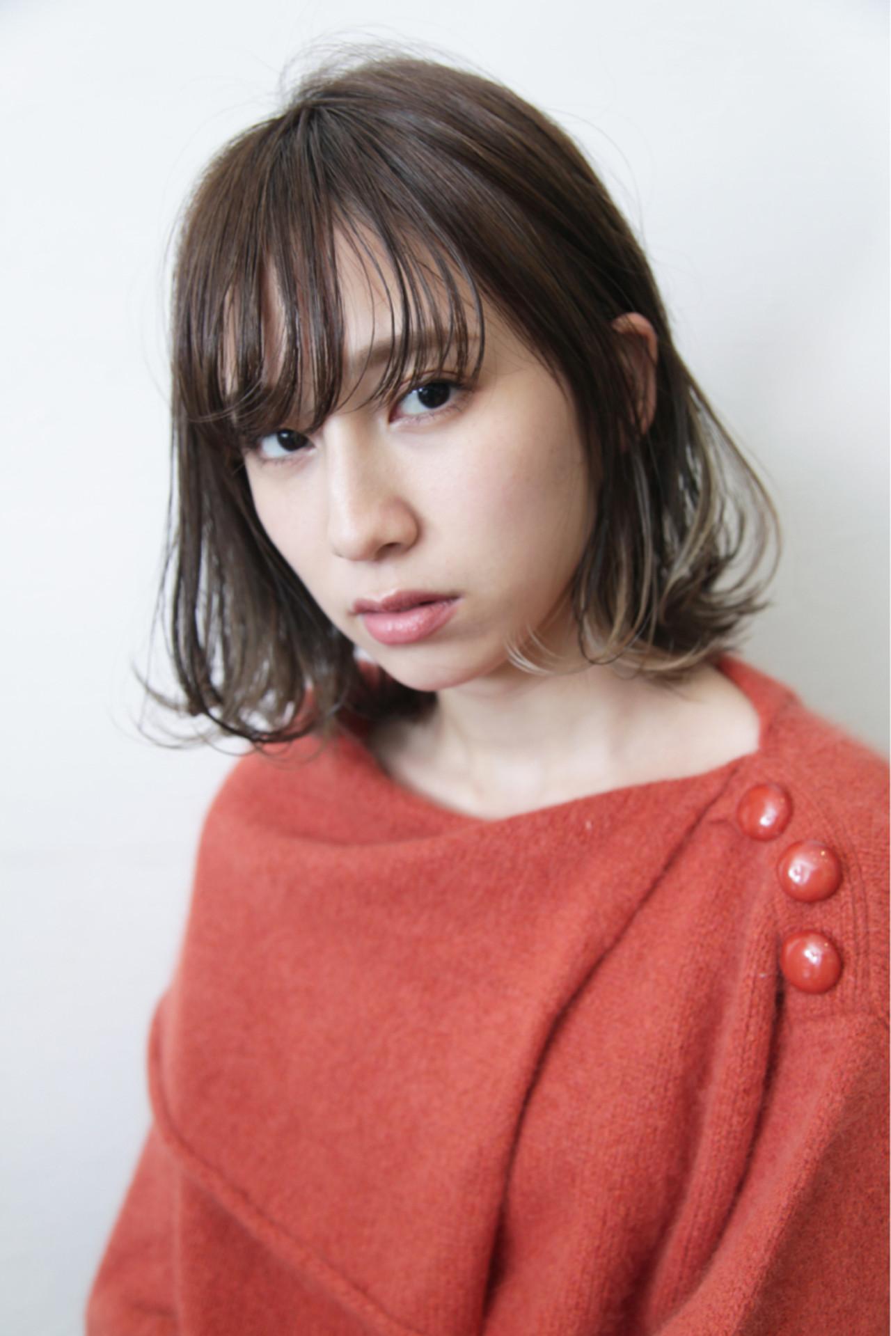 インナーカラー イルミナカラー デート ゆるふわ ヘアスタイルや髪型の写真・画像 | 畑山拓也 / Baco.