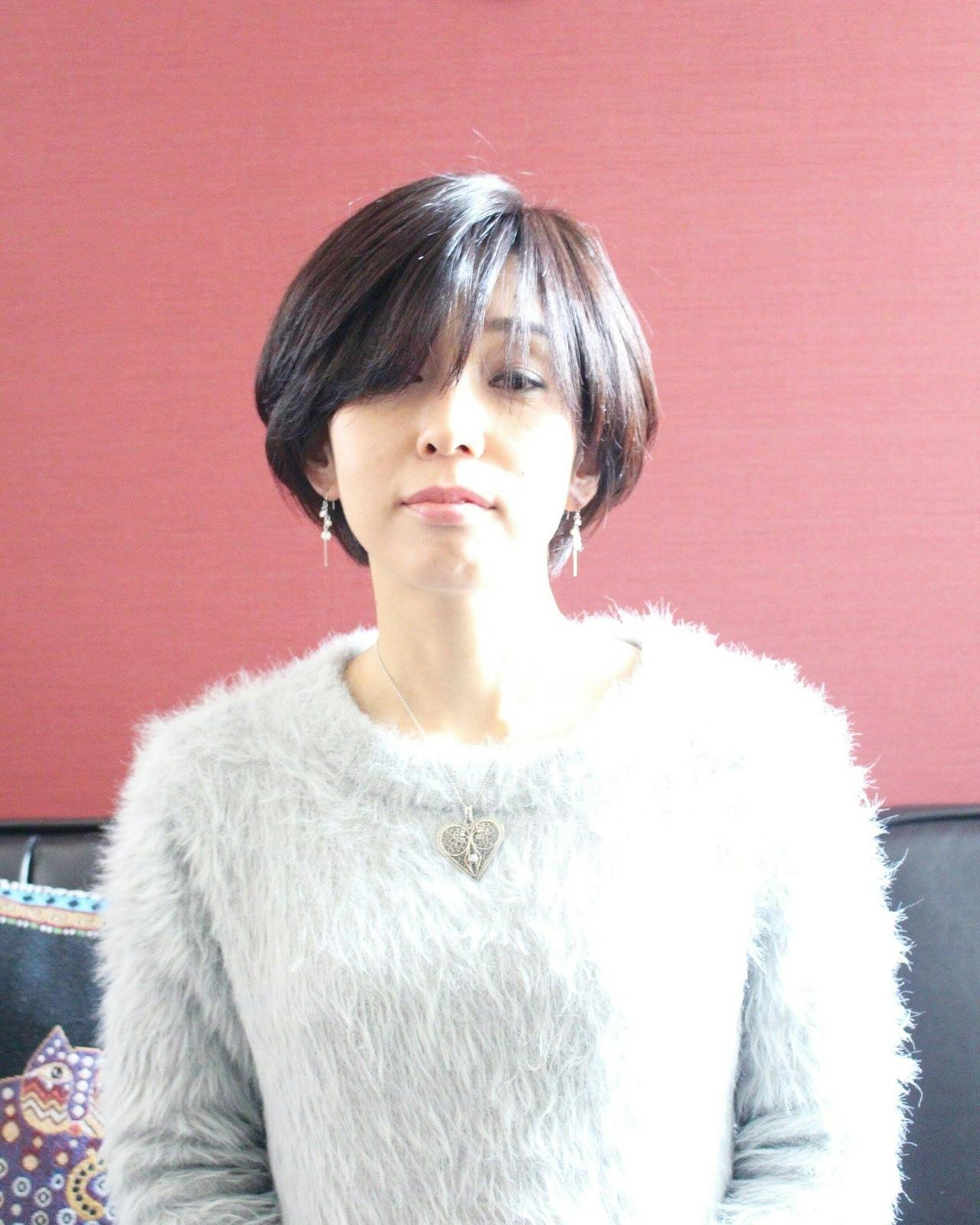 ボブ ショートボブ イルミナカラー フェミニン ヘアスタイルや髪型の写真・画像