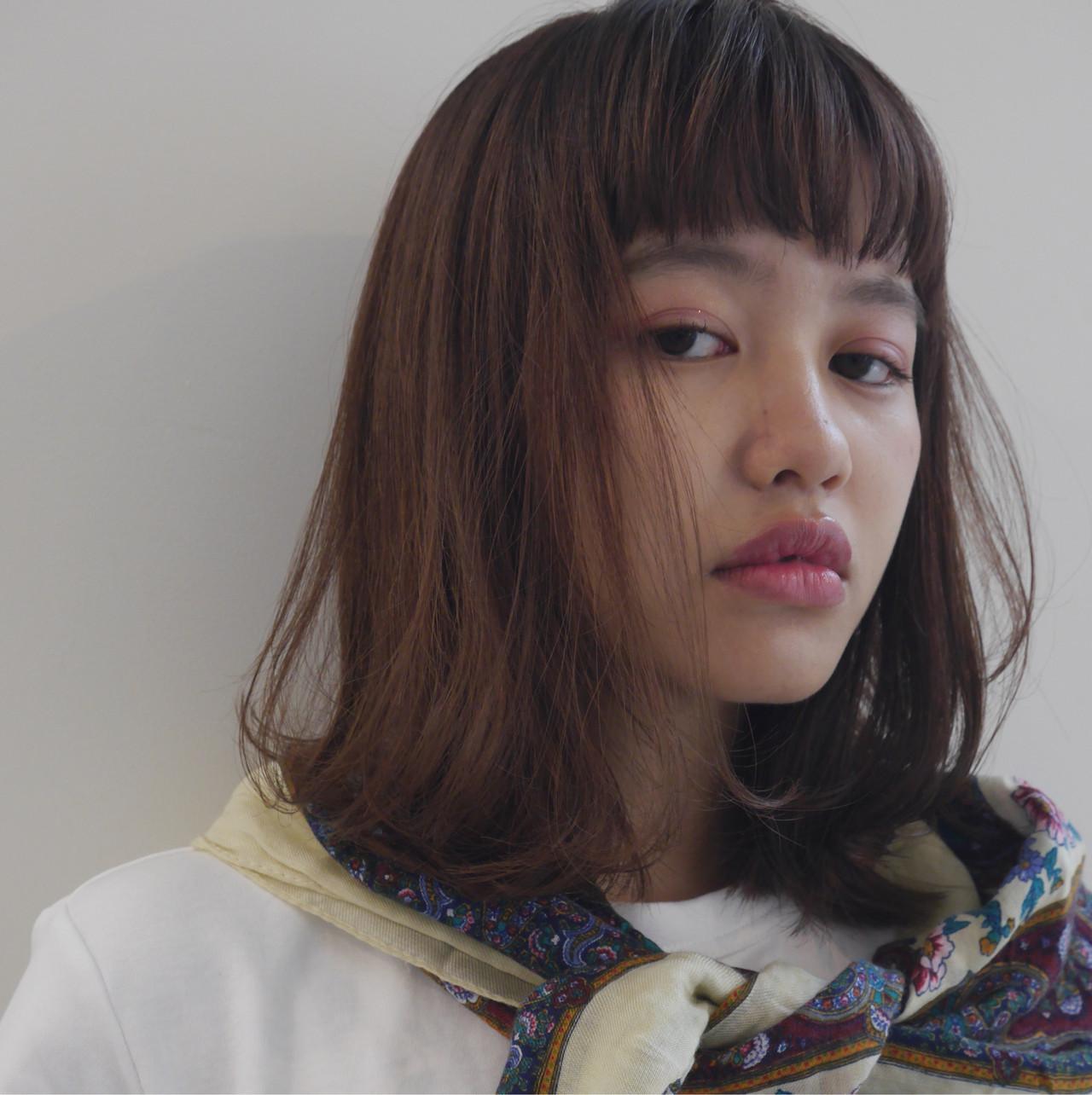 ミディアム ナチュラル 鎖骨ミディアム 外国人風 ヘアスタイルや髪型の写真・画像 | 井浦果歩 / ecouter