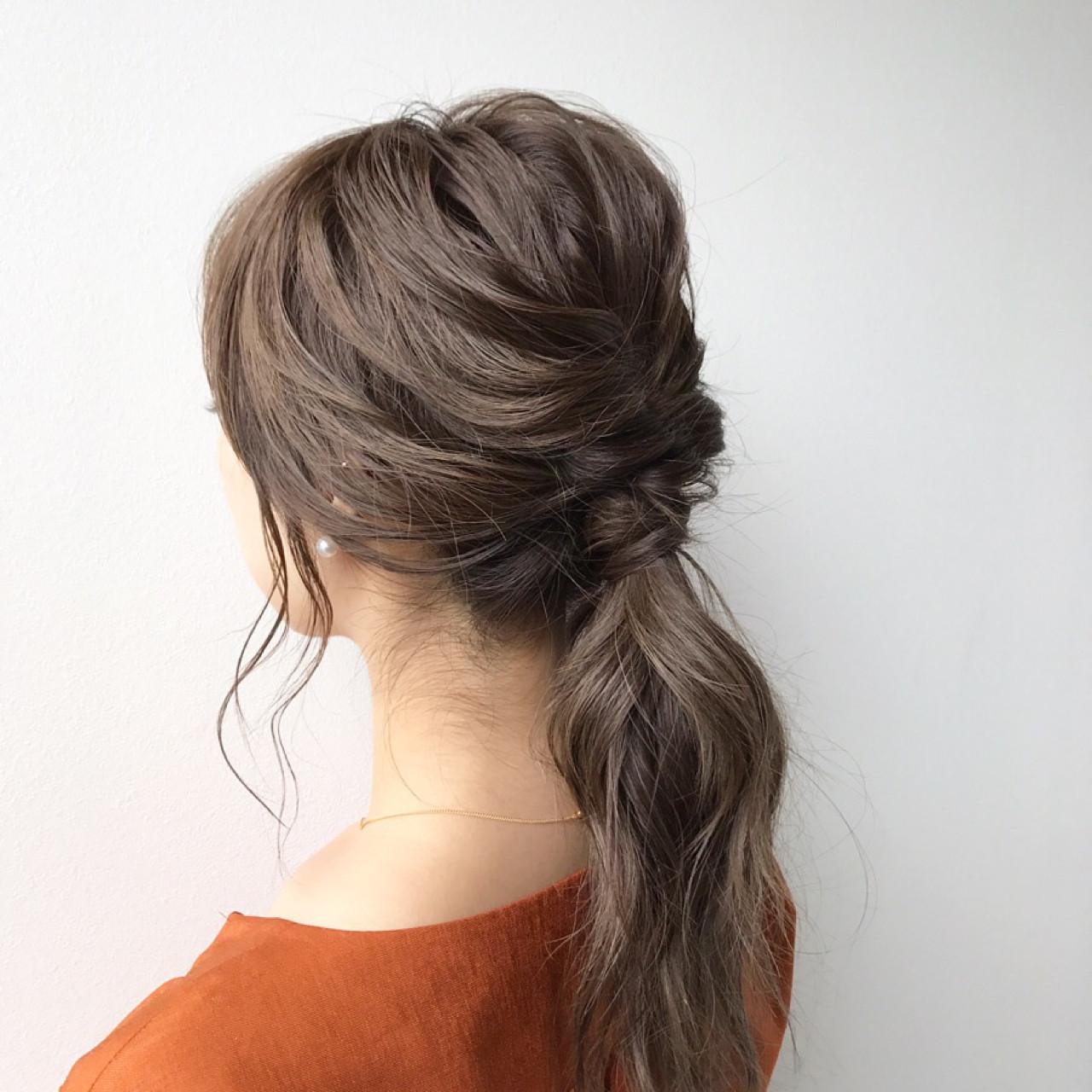 ミディアム 簡単ヘアアレンジ ショート ナチュラル ヘアスタイルや髪型の写真・画像 | Meg/k-two AOYAMA / K-two  AOYAMA店