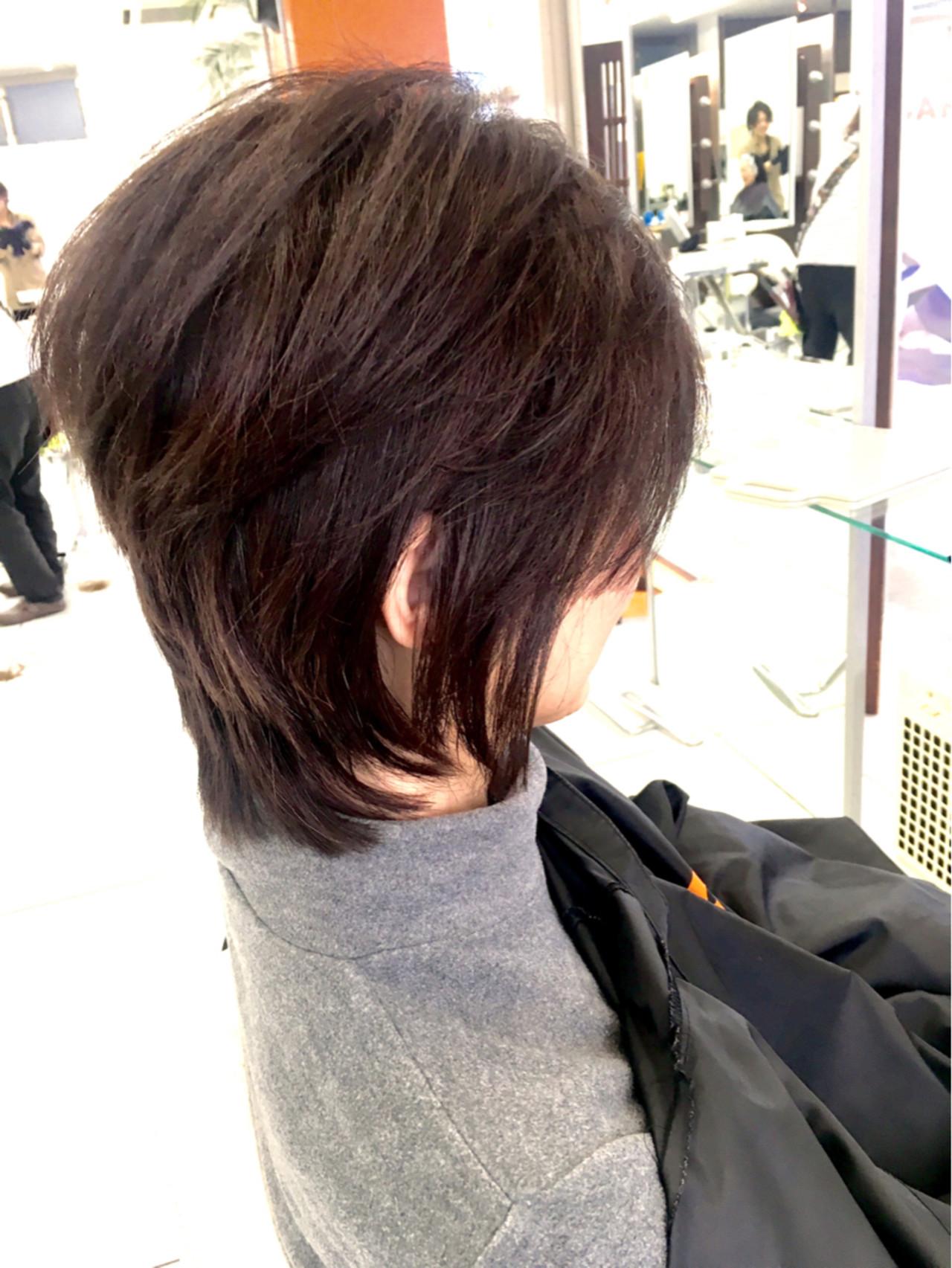 ニュアンス 小顔 色気 ショート ヘアスタイルや髪型の写真・画像