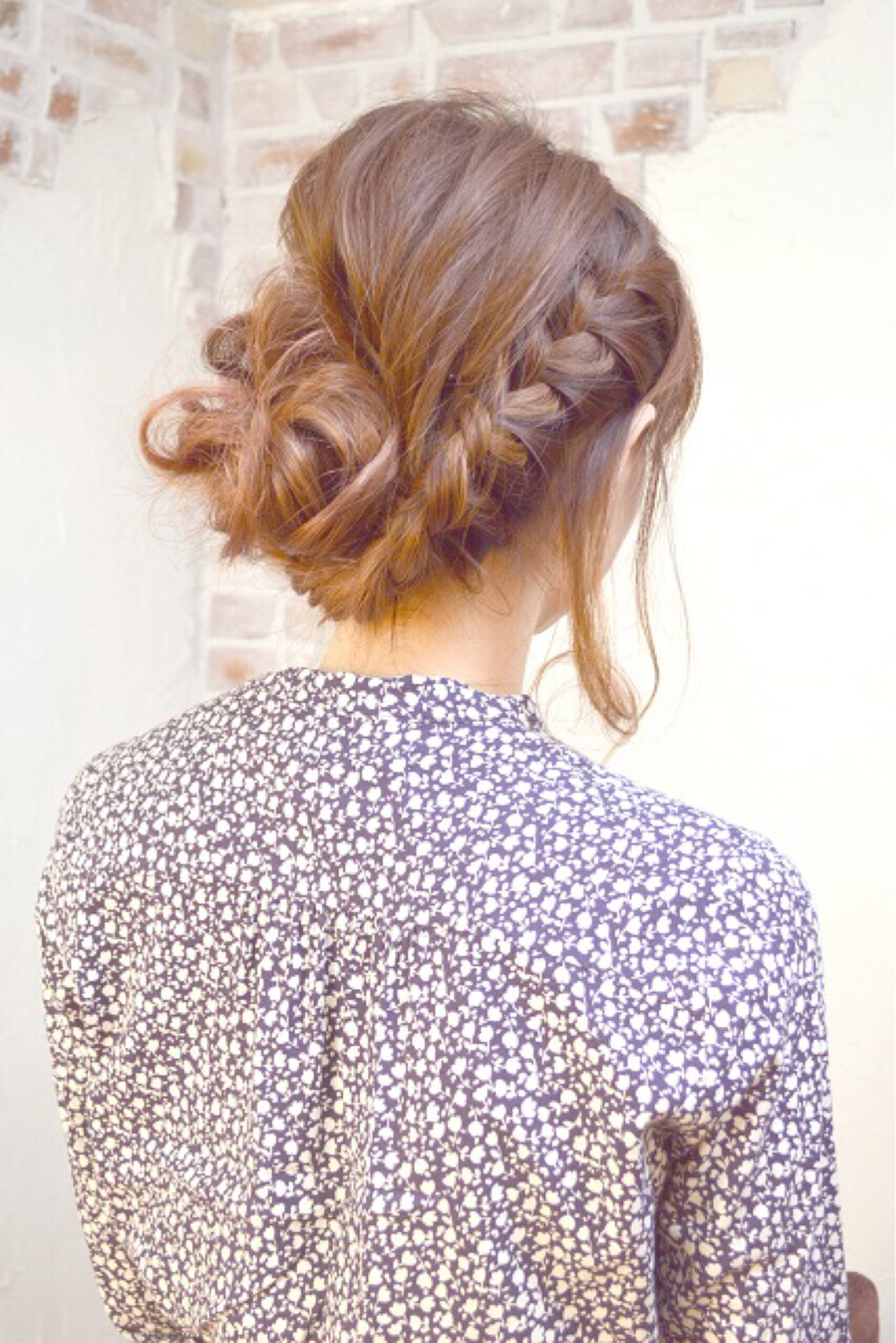 まとめ髪 ヘアアレンジ ロング ねじり ヘアスタイルや髪型の写真・画像