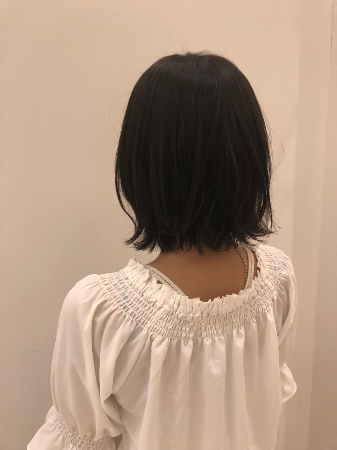 ボブ 外ハネ ゆるふわ パーマ ヘアスタイルや髪型の写真・画像 | 坂本一馬 / JUHL ユール