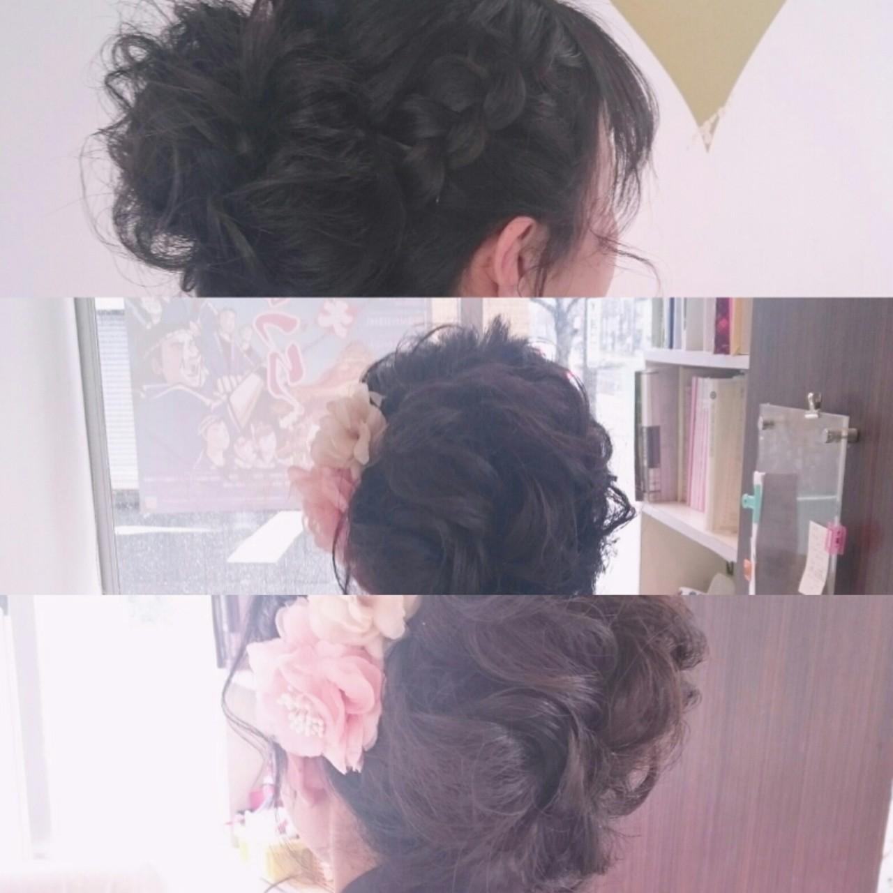 ブライダル セミロング 二次会 結婚式 ヘアスタイルや髪型の写真・画像