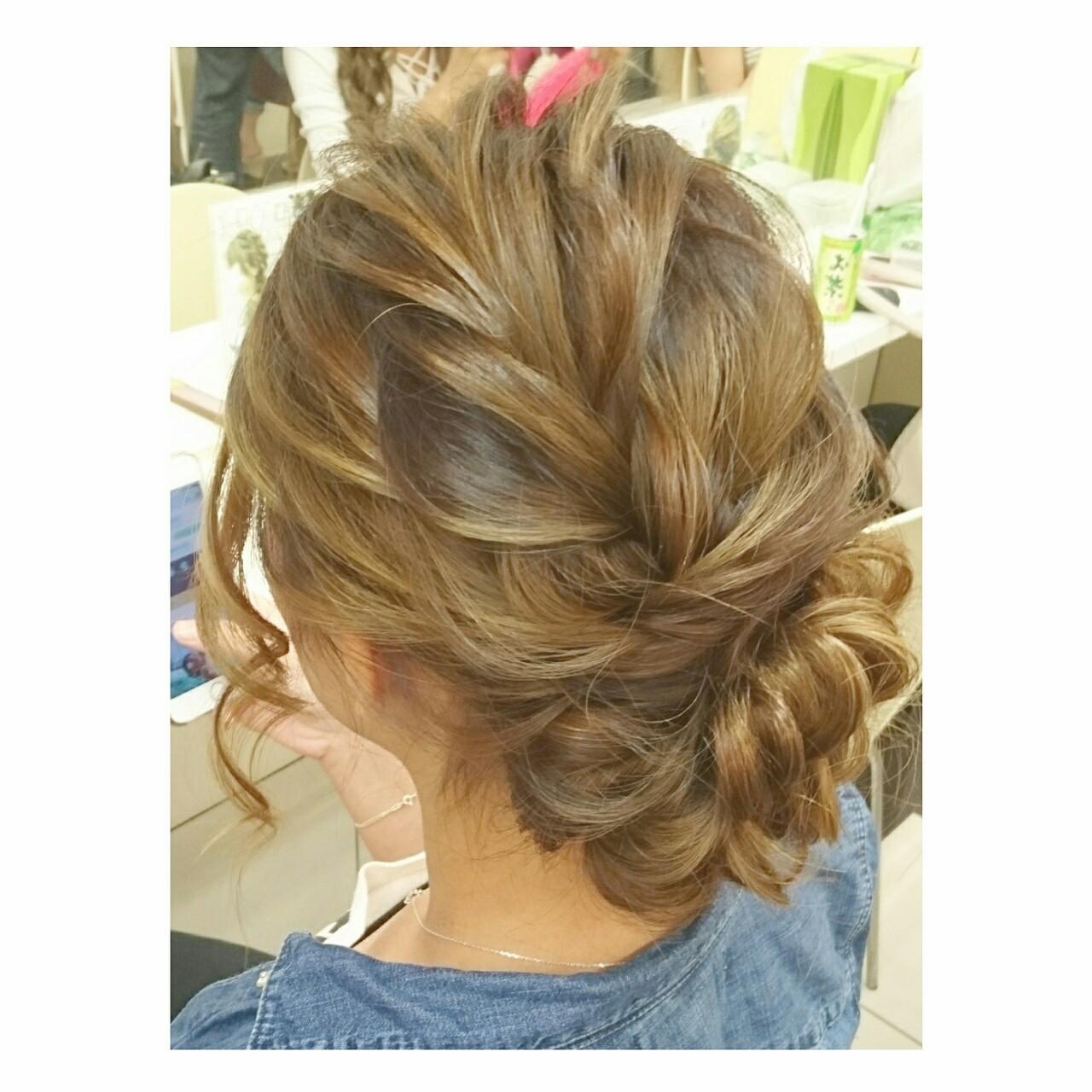結婚式 ロング 大人かわいい ヘアアレンジ ヘアスタイルや髪型の写真・画像   chisa* / CURE