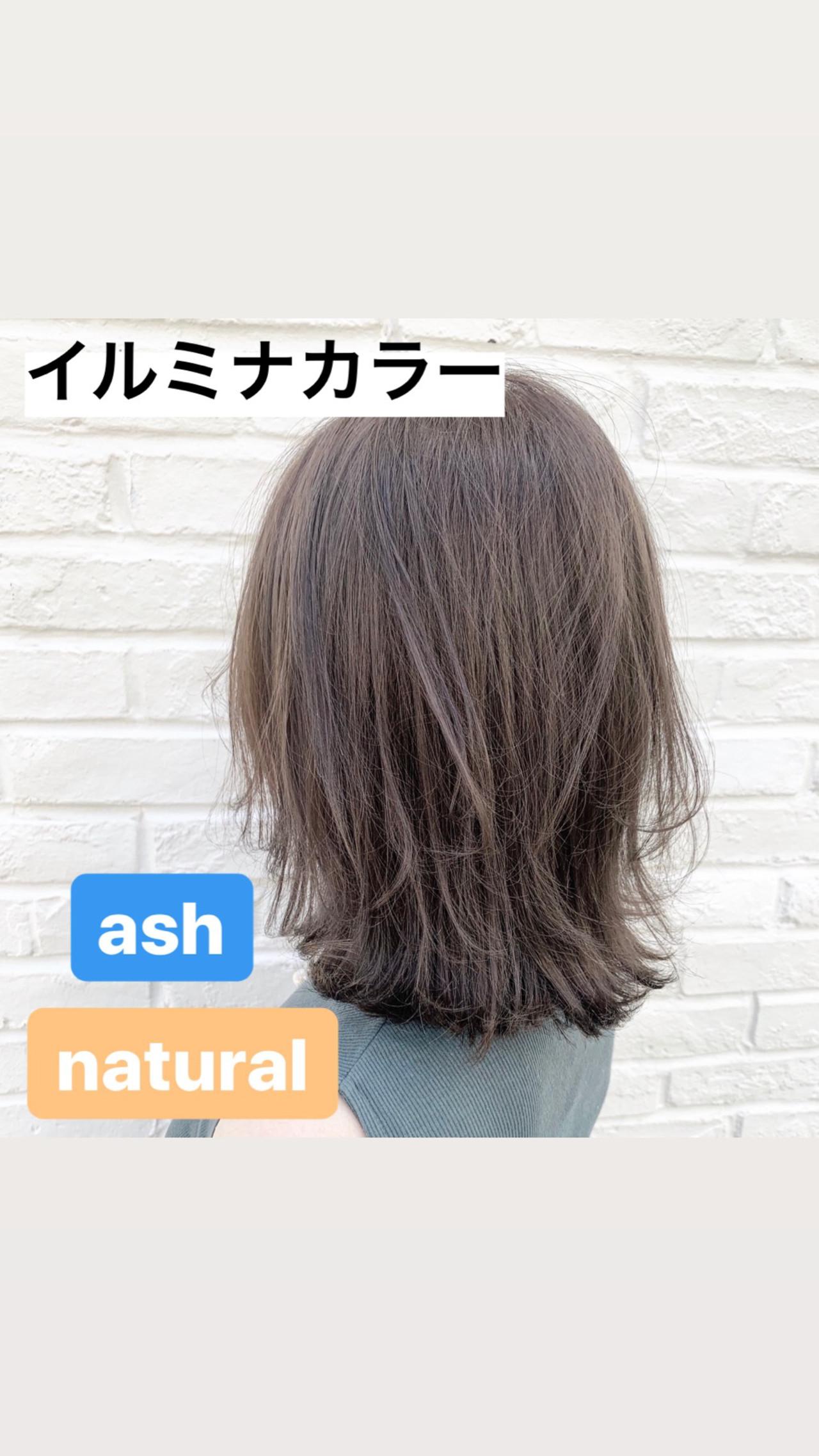 ブリーチ無し アッシュグレージュ 透明感カラー ナチュラル ヘアスタイルや髪型の写真・画像