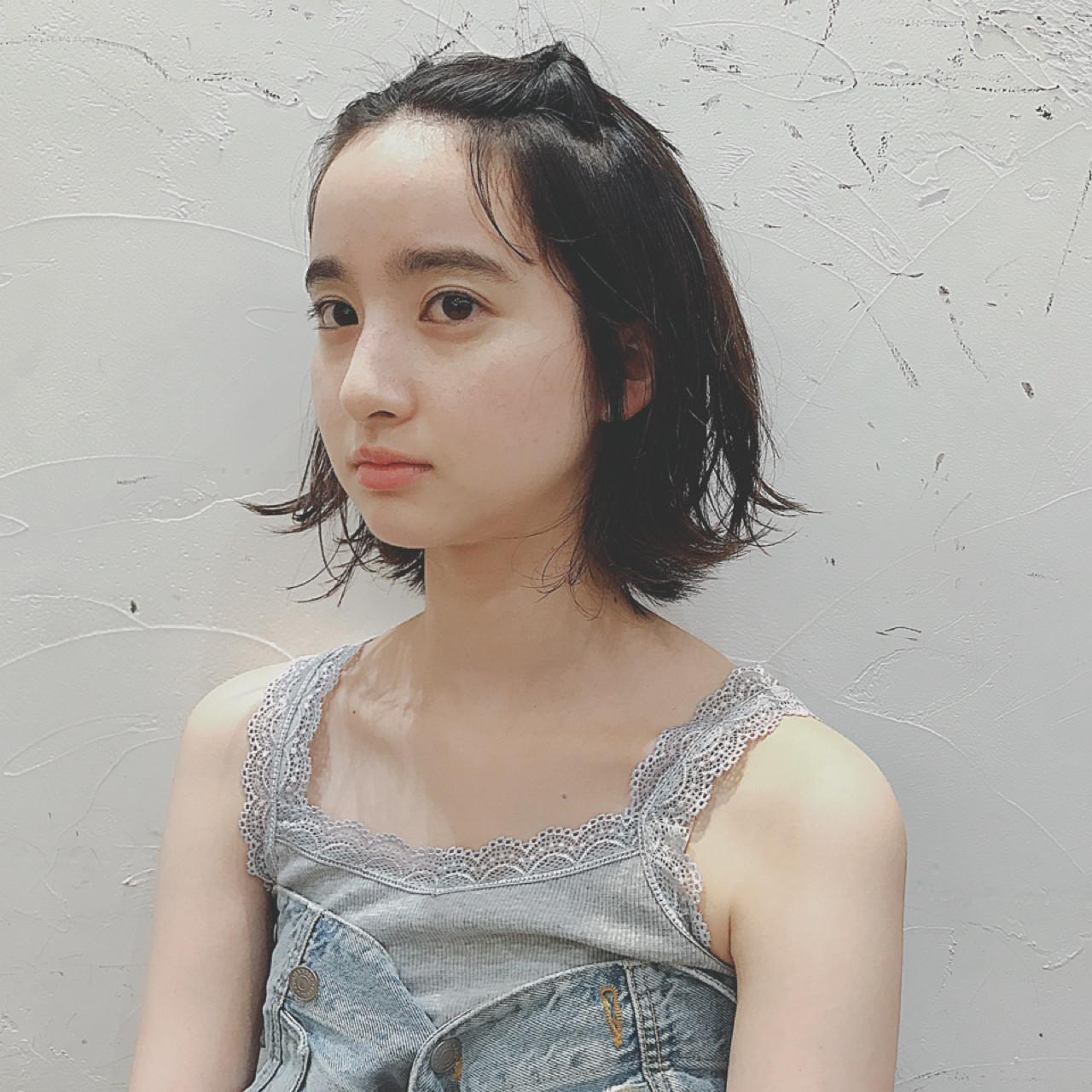 簡単ヘアアレンジ 涼しげ 猫耳 ナチュラル ヘアスタイルや髪型の写真・画像 | NEUTRAL 中園 香峰 / NEUTRAL produced by GARDEN