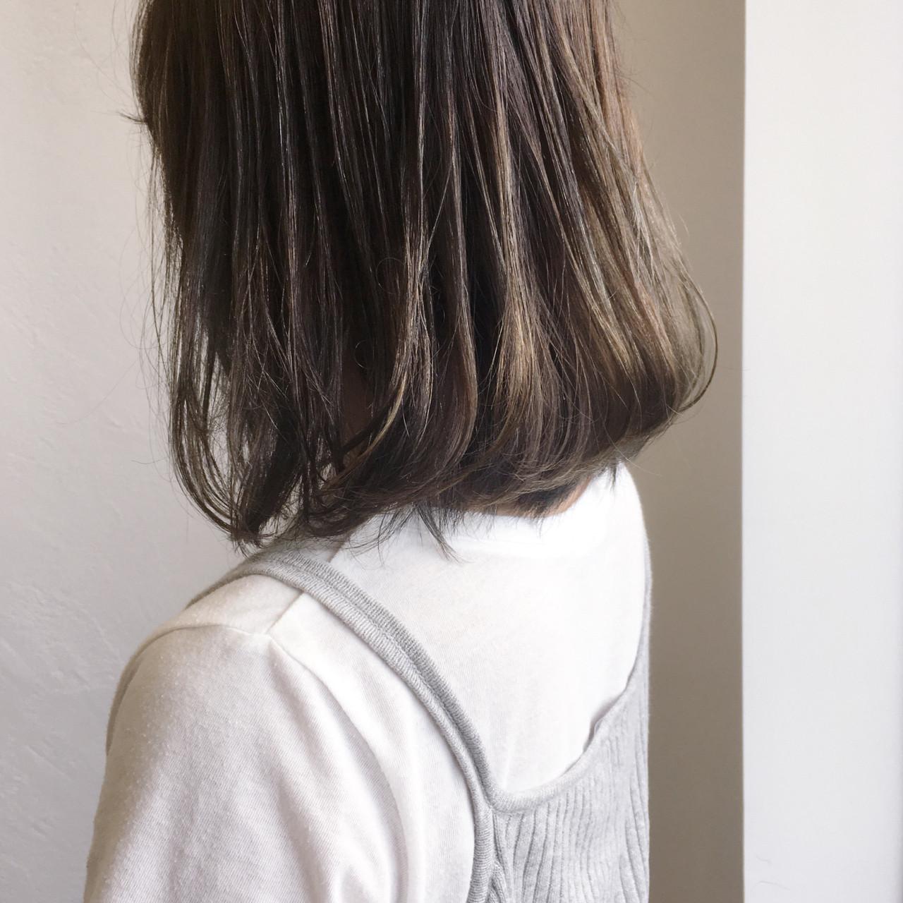 大人かわいい ミディアム 大人女子 ナチュラル ヘアスタイルや髪型の写真・画像 | 守屋恵理 / Elin