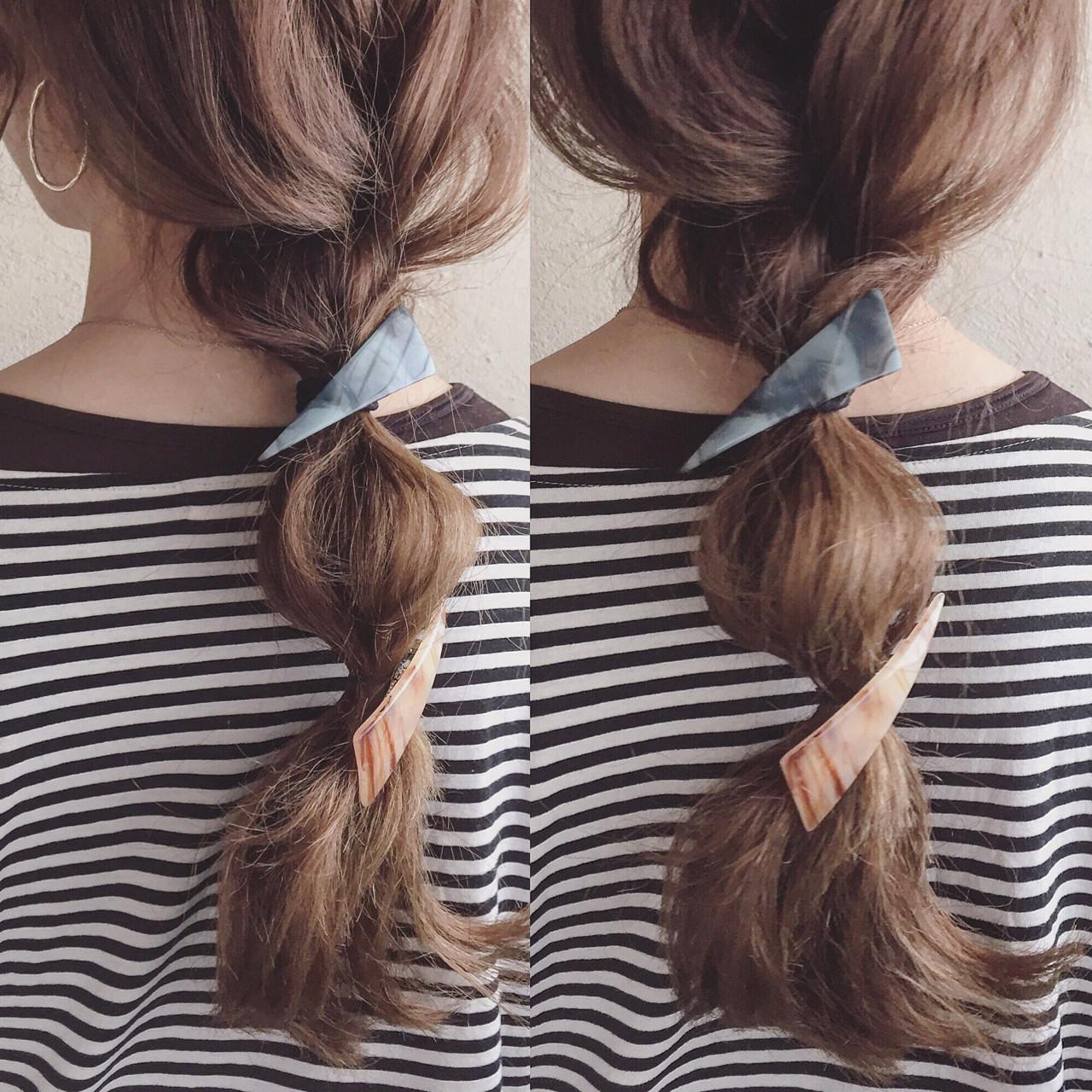 簡単ヘアアレンジ ショート ヘアアレンジ セミロング ヘアスタイルや髪型の写真・画像 | ange maco / ange