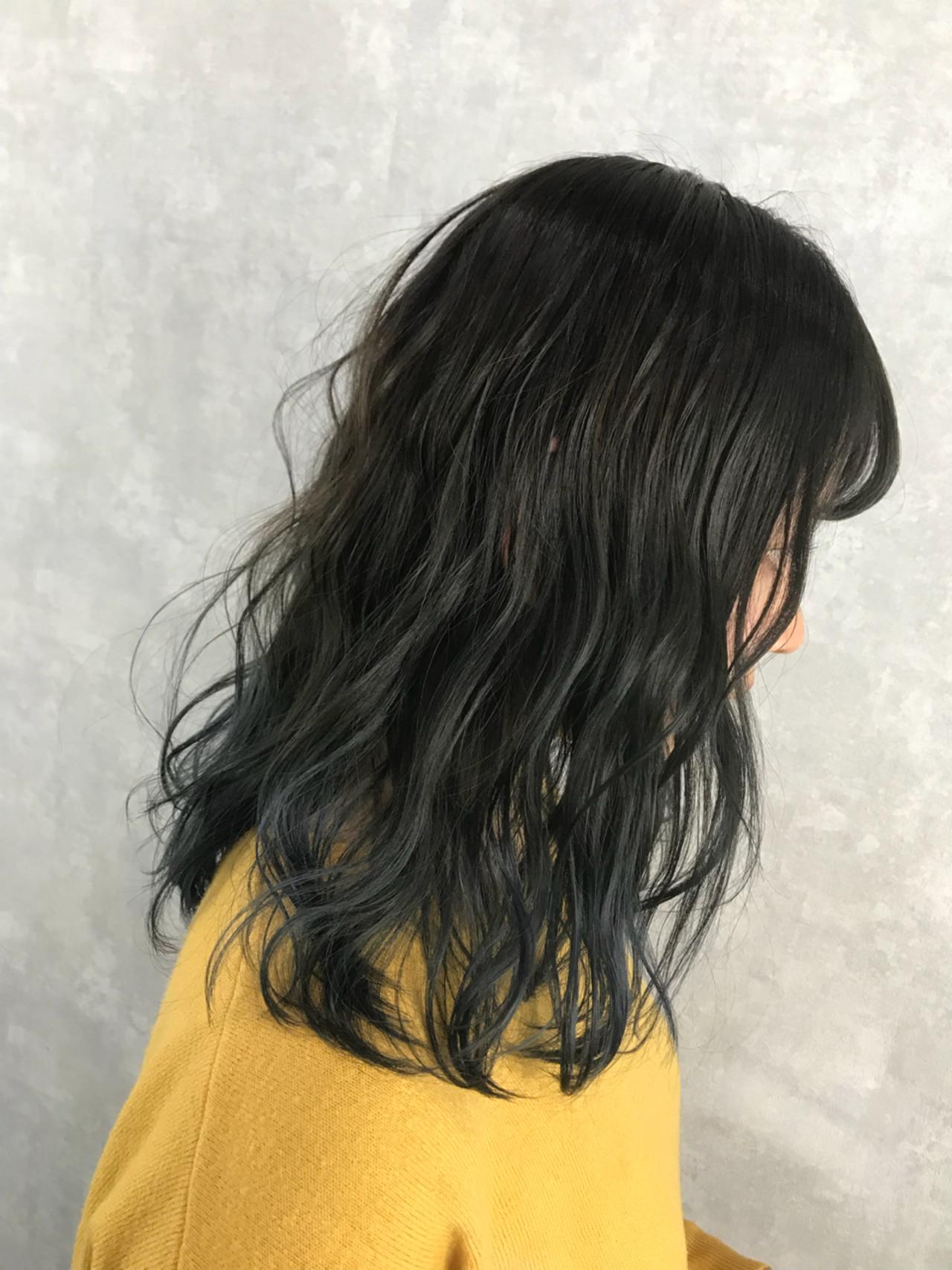 ストリート セミロング グラデーションカラー ハイトーン ヘアスタイルや髪型の写真・画像