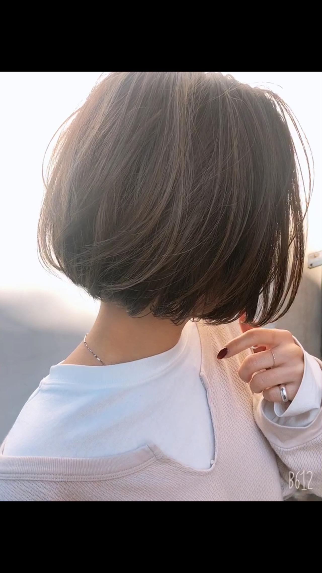 ナチュラル ショートボブ ミニボブ 外国人風カラー ヘアスタイルや髪型の写真・画像   高沼 達也 / byトルネード / トルネード