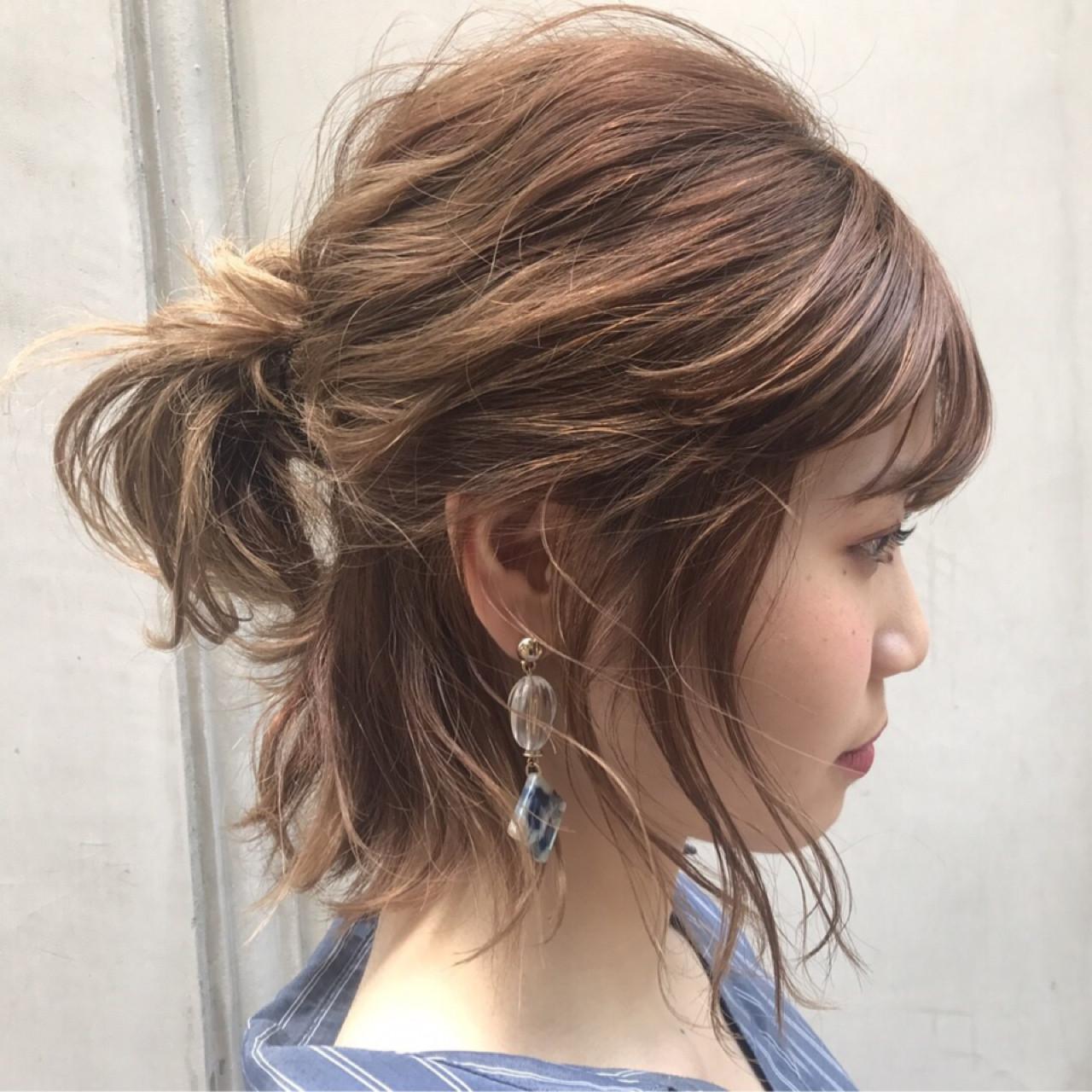 女子会 デート インナーカラー ナチュラル ヘアスタイルや髪型の写真・画像 | NAOMI / Ramie