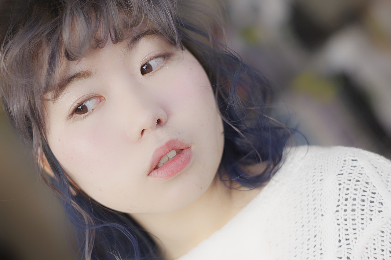ミディアム アッシュ ストリート ブリーチオンカラー ヘアスタイルや髪型の写真・画像 | ken / sora