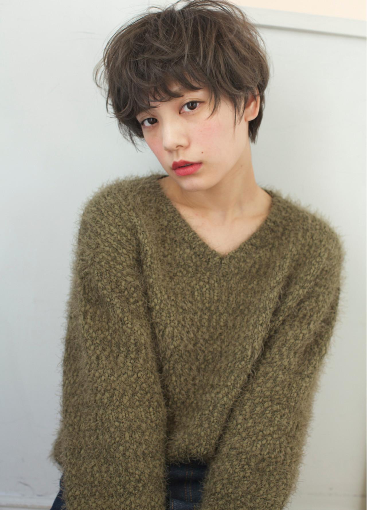 大人かわいい ショート ナチュラル 冬 ヘアスタイルや髪型の写真・画像 | 石川 瑠利子 /
