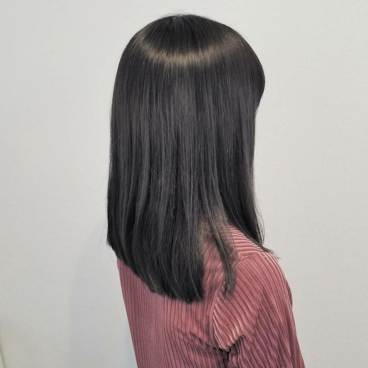 大人かわいい オフィス ナチュラル 秋 ヘアスタイルや髪型の写真・画像 | 浅原 有輝 / rough