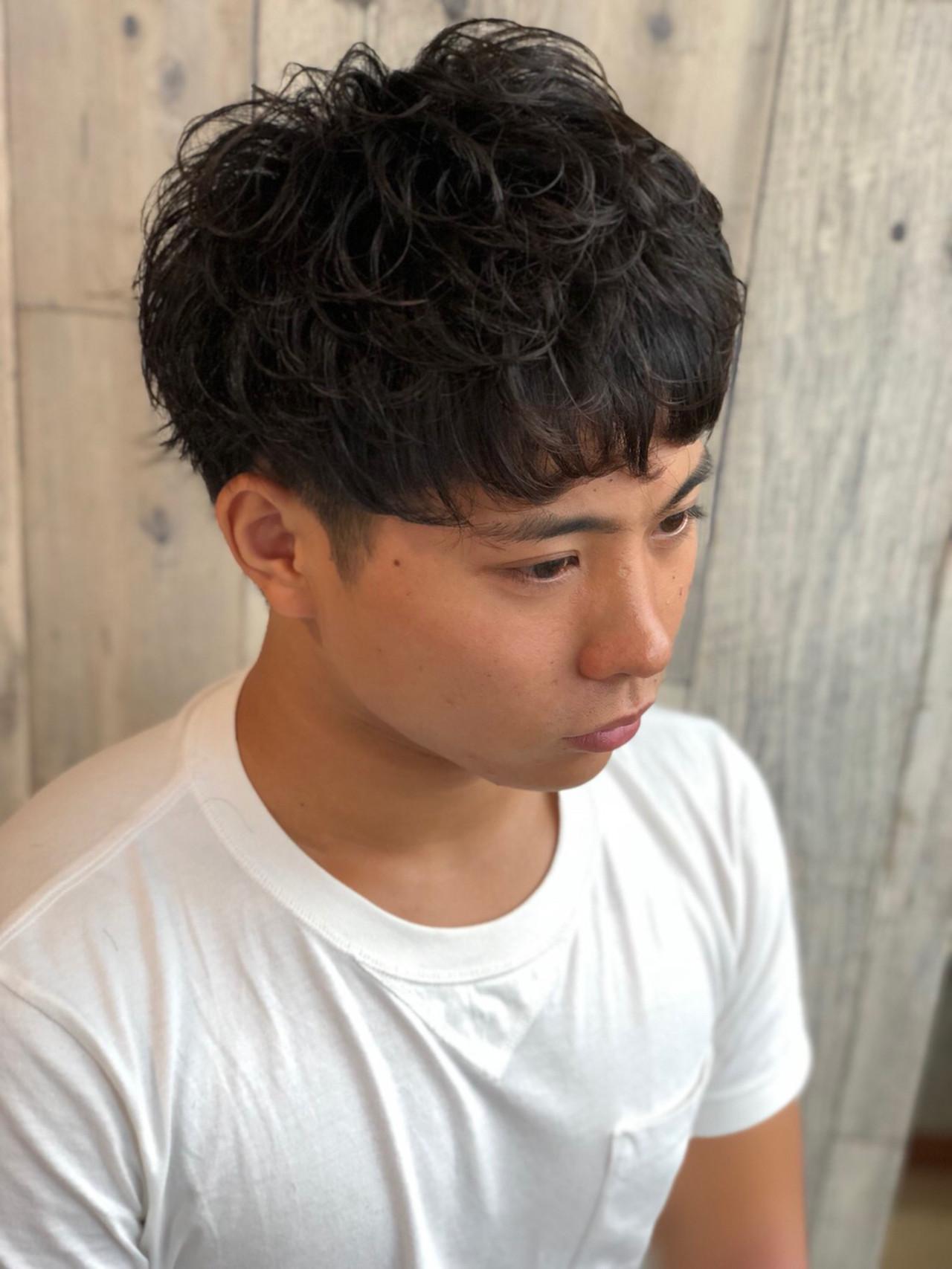 ショート 黒髪 メンズヘア メンズ ヘアスタイルや髪型の写真・画像