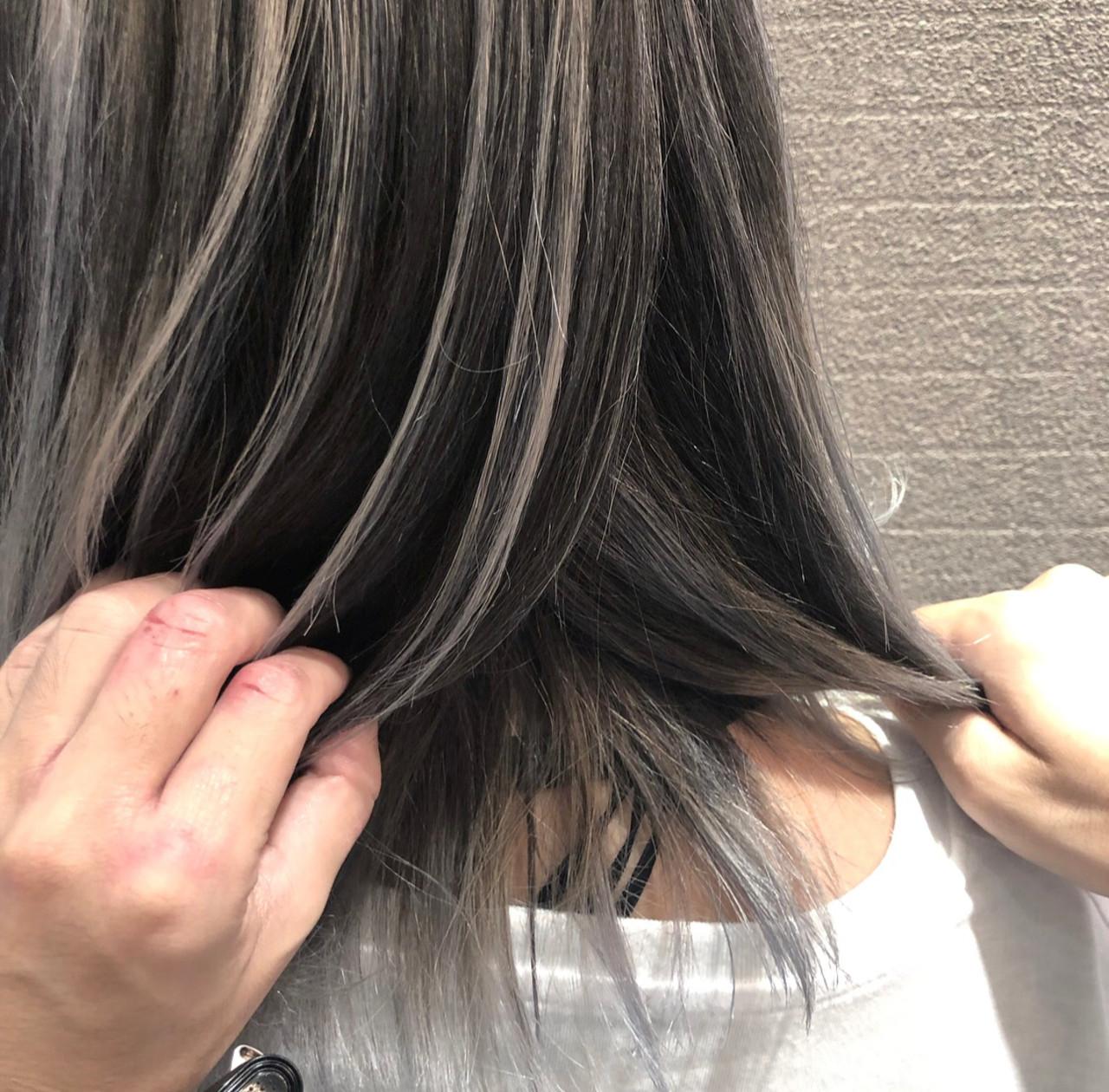 ストリート 外国人風 3Dハイライト ミディアム ヘアスタイルや髪型の写真・画像
