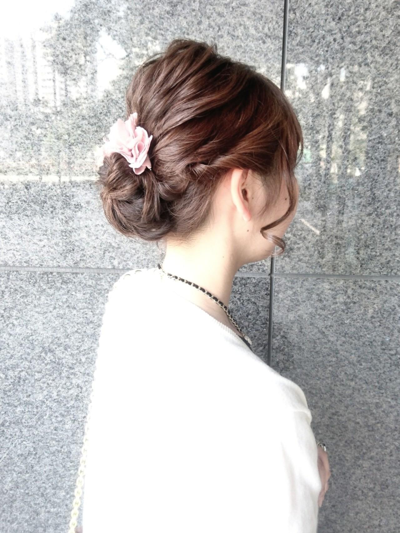 ミディアム ヘアアレンジ ナチュラル ハーフアップ ヘアスタイルや髪型の写真・画像