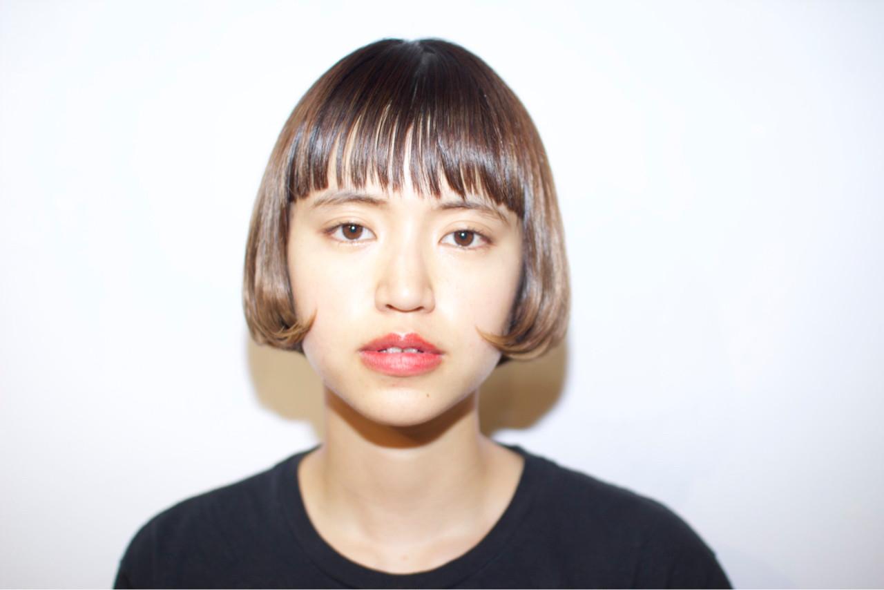 前髪あり ガーリー ピュア ワイドバング ヘアスタイルや髪型の写真・画像