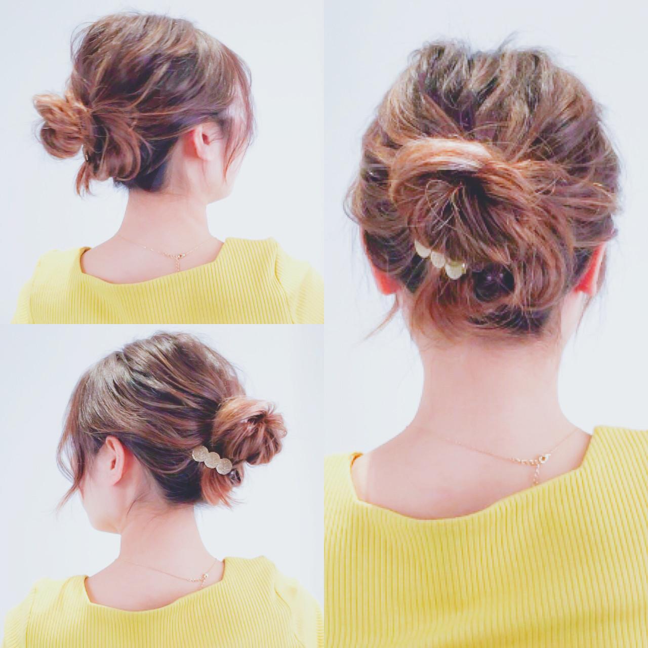 セルフヘアアレンジ 簡単ヘアアレンジ ロング ヘアアレンジ ヘアスタイルや髪型の写真・画像 | 美容師HIRO/Amoute代表 / Amoute/アムティ
