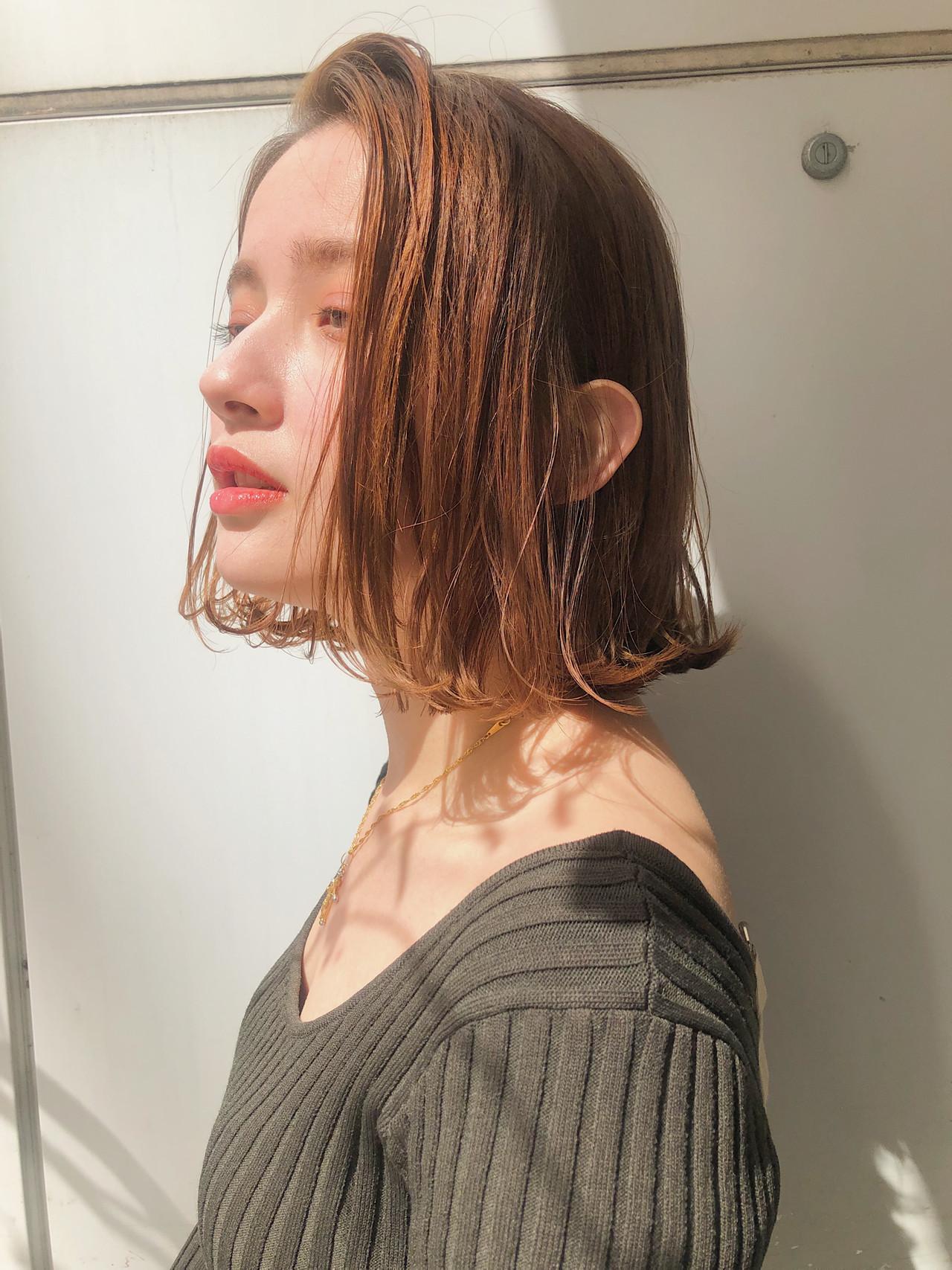 ボブ 大人かわいい 小顔 ナチュラル ヘアスタイルや髪型の写真・画像 | MARIA / EMMA GINZA