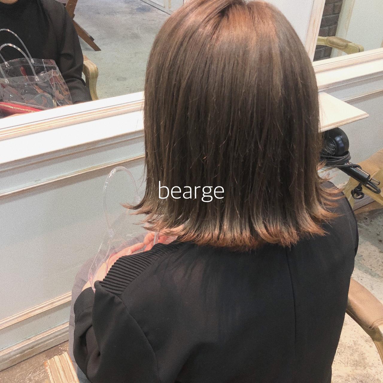 ミルクティーベージュ イルミナカラー 外国人風カラー ベージュ ヘアスタイルや髪型の写真・画像