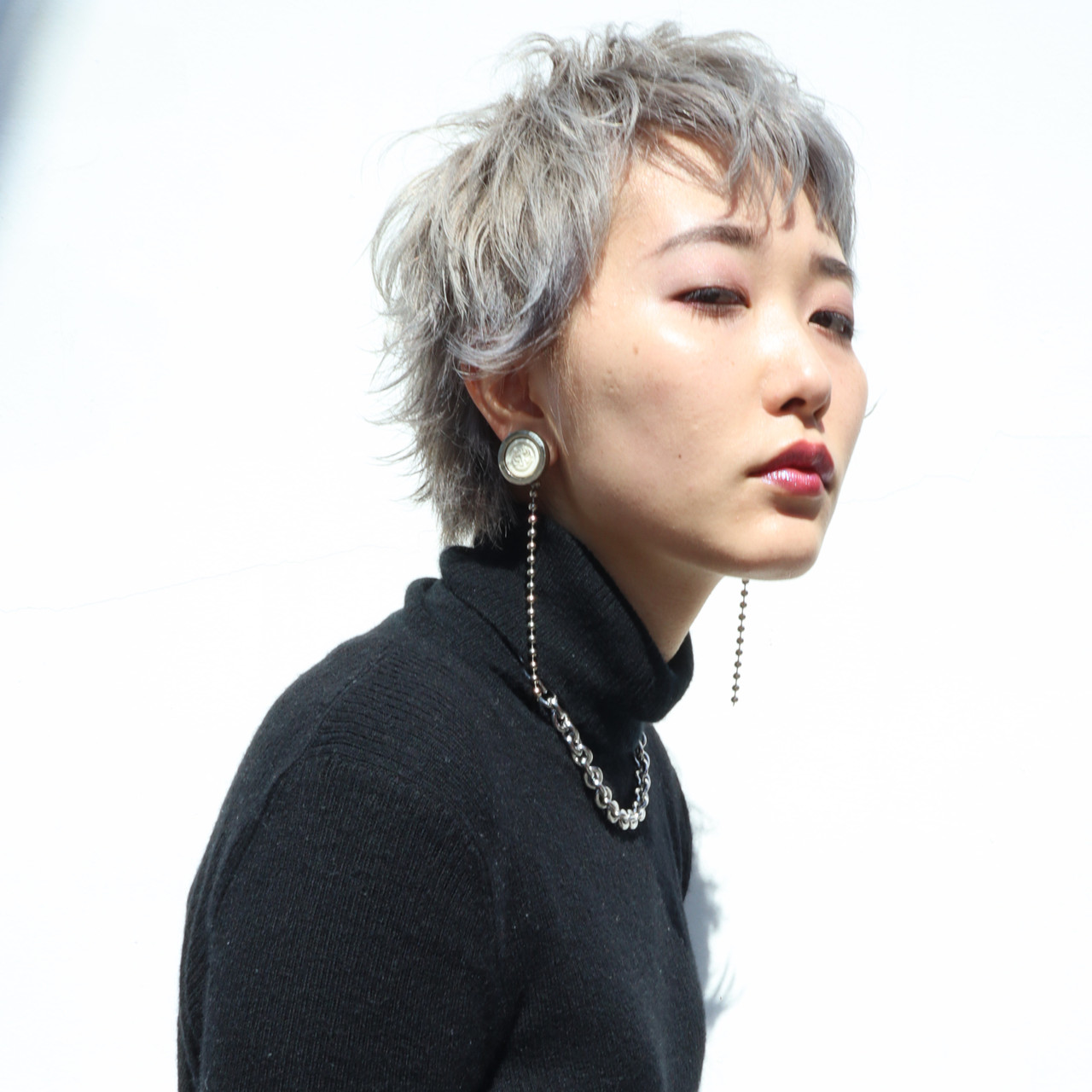 ヘアカラー 透明感カラー 外国人風カラー ショート ヘアスタイルや髪型の写真・画像