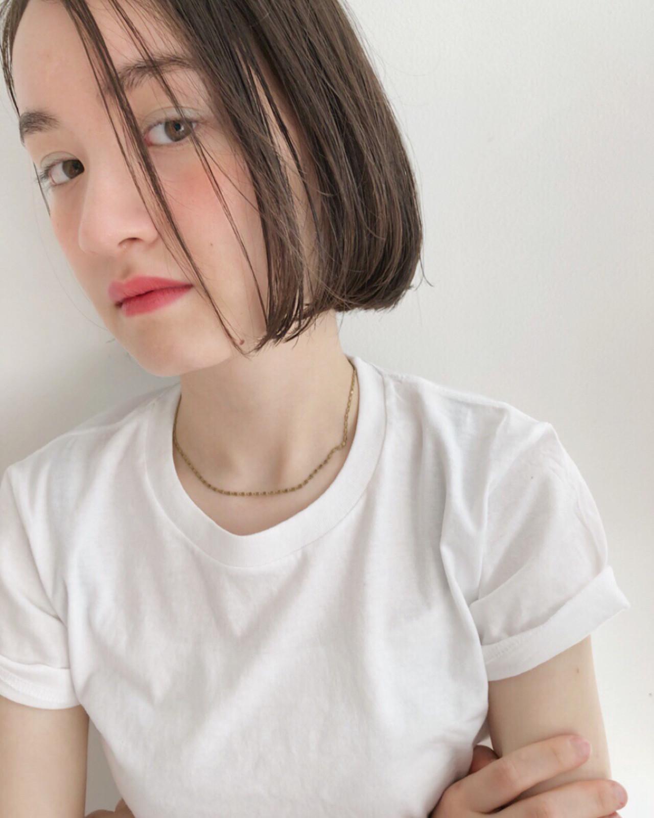 オフィス スポーツ ボブ 透明感 ヘアスタイルや髪型の写真・画像 | 中島 潮里 / whyte / whyte