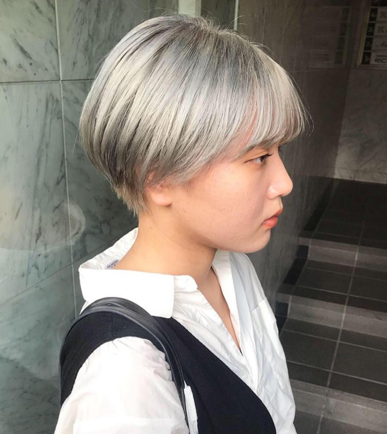 透明感カラー 外国人風カラー カジュアル ストリート ヘアスタイルや髪型の写真・画像