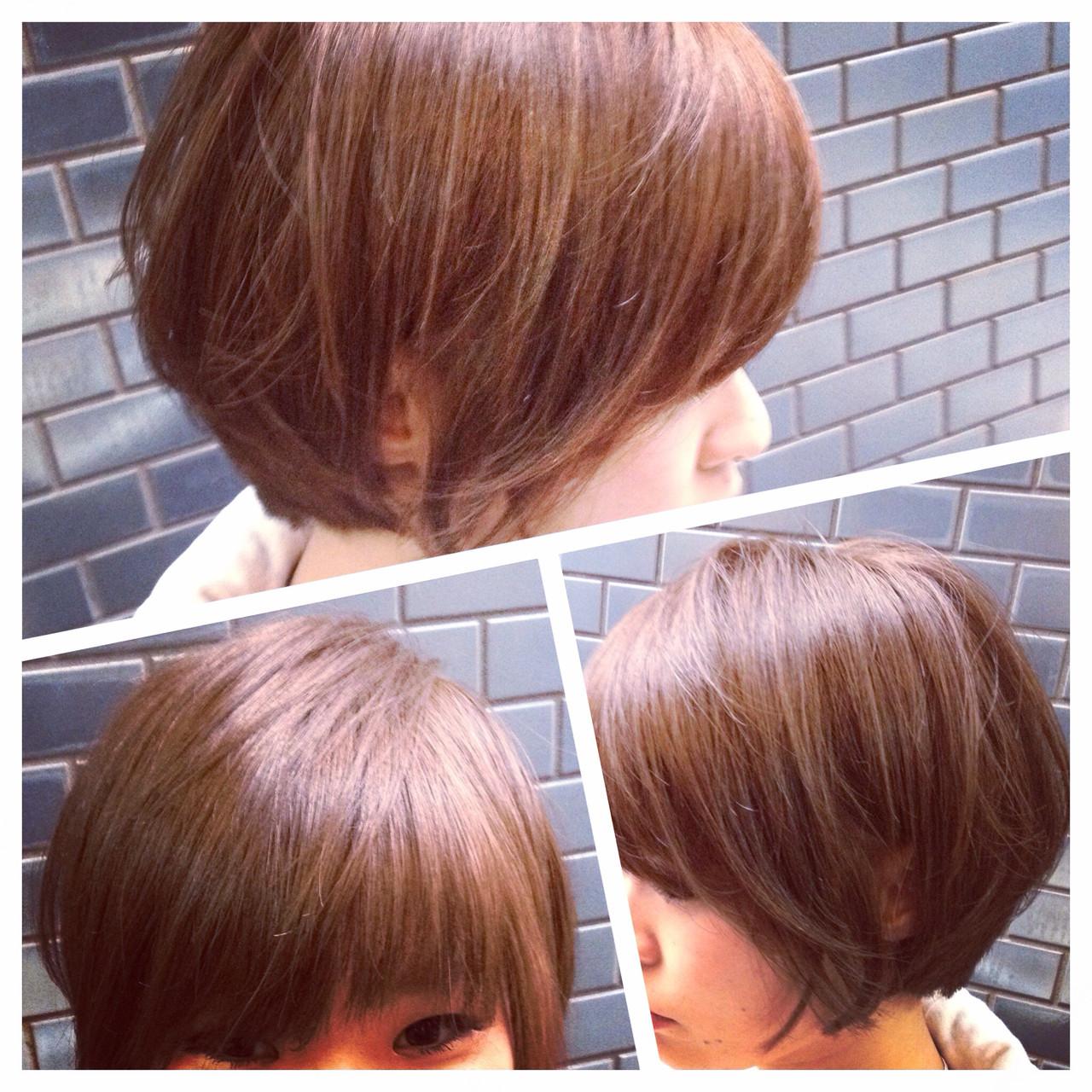 大人女子 イルミナカラー ナチュラル ボブ ヘアスタイルや髪型の写真・画像   今永 律子 / adams bella