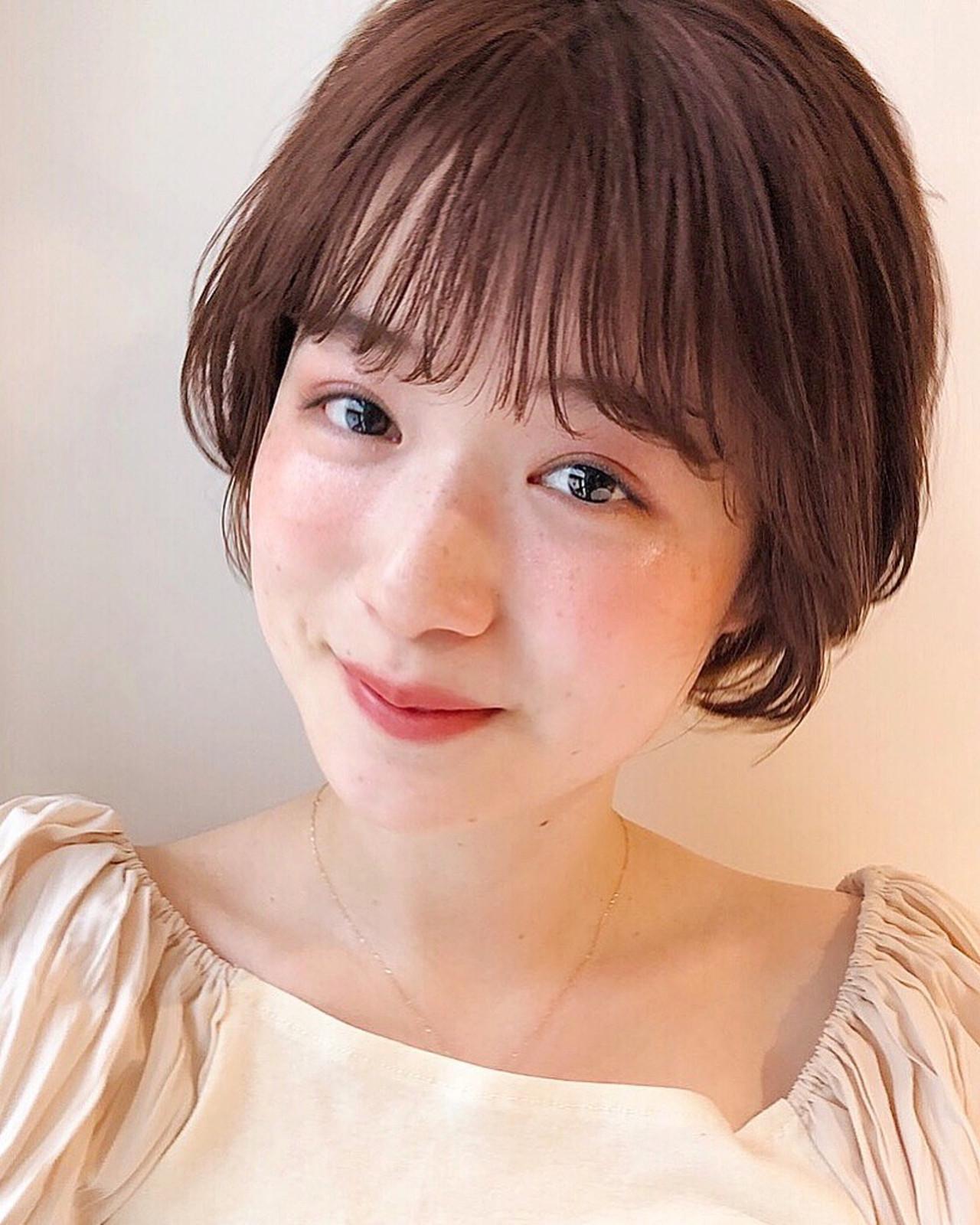 アンニュイほつれヘア ショート 透明感カラー デート ヘアスタイルや髪型の写真・画像