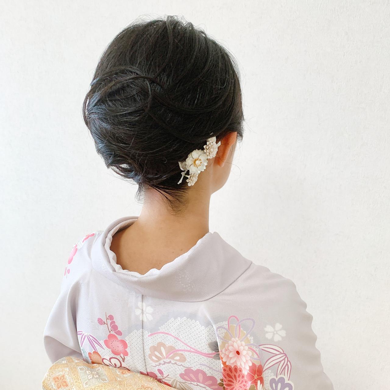 エレガント 訪問着 和装ヘア 着物 ヘアスタイルや髪型の写真・画像   Moriyama Mami / 福岡天神ヘアセット・着付け専門店【Three-keys】