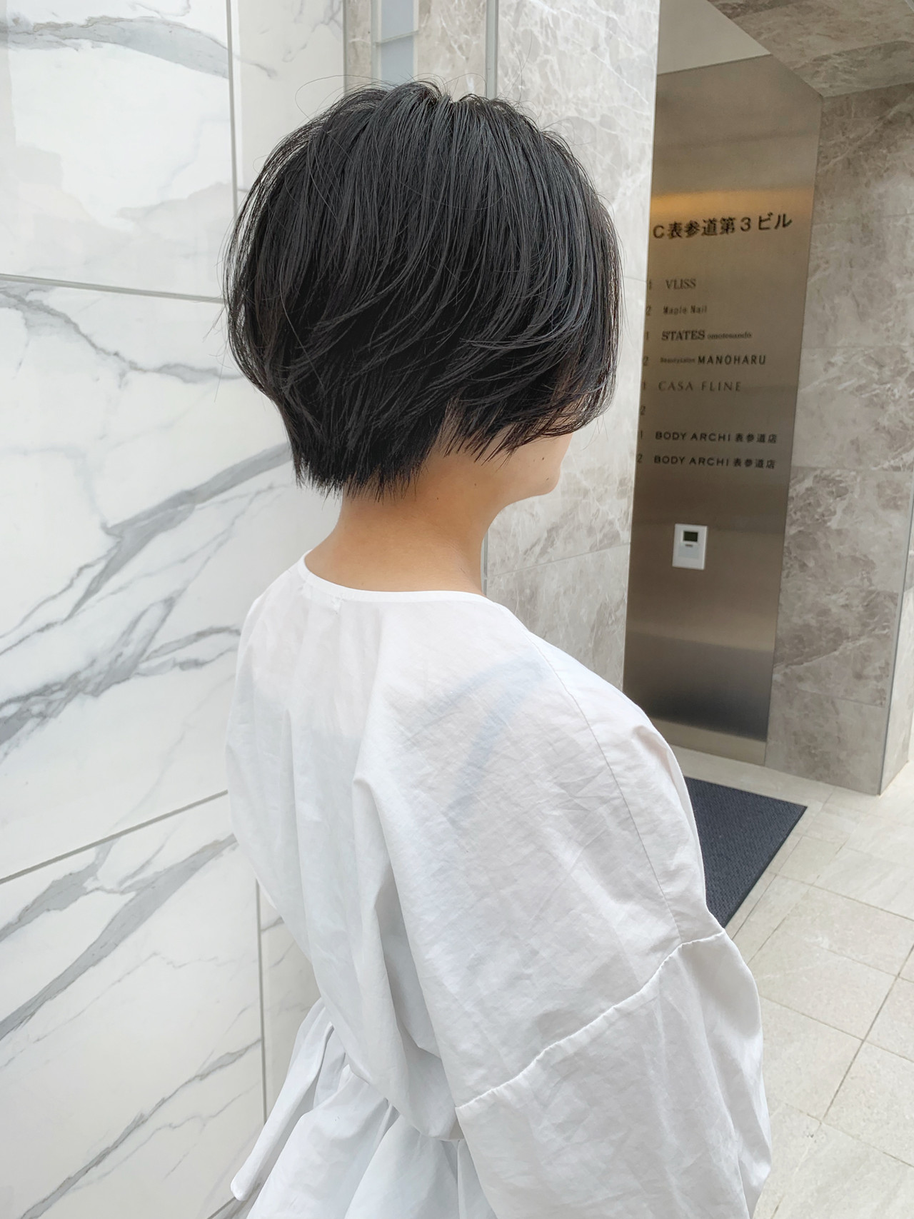 小顔ショート ショート グレージュ ショートボブ ヘアスタイルや髪型の写真・画像