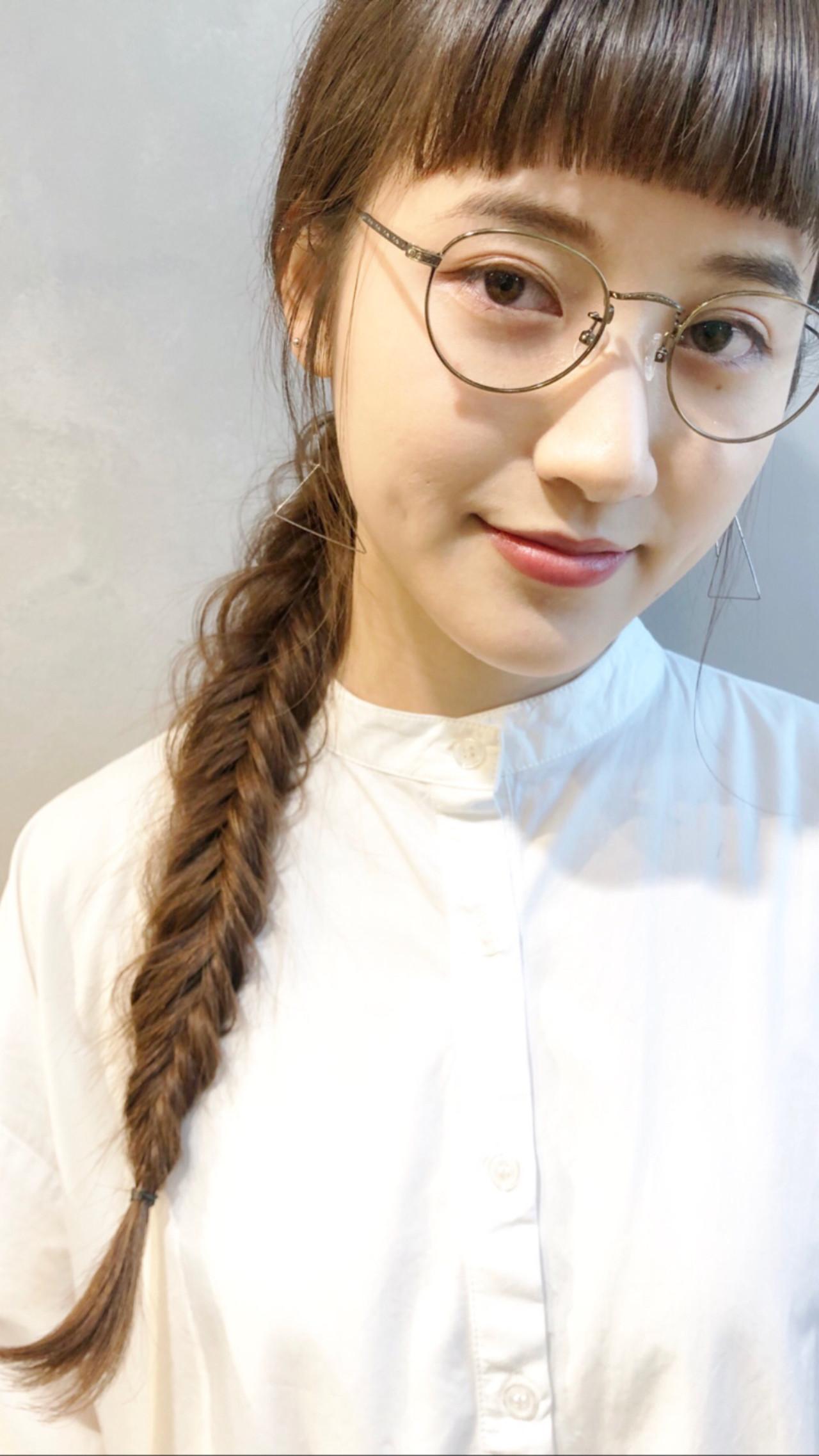 ヘアアレンジ シースルーバング ロング 簡単ヘアアレンジ ヘアスタイルや髪型の写真・画像