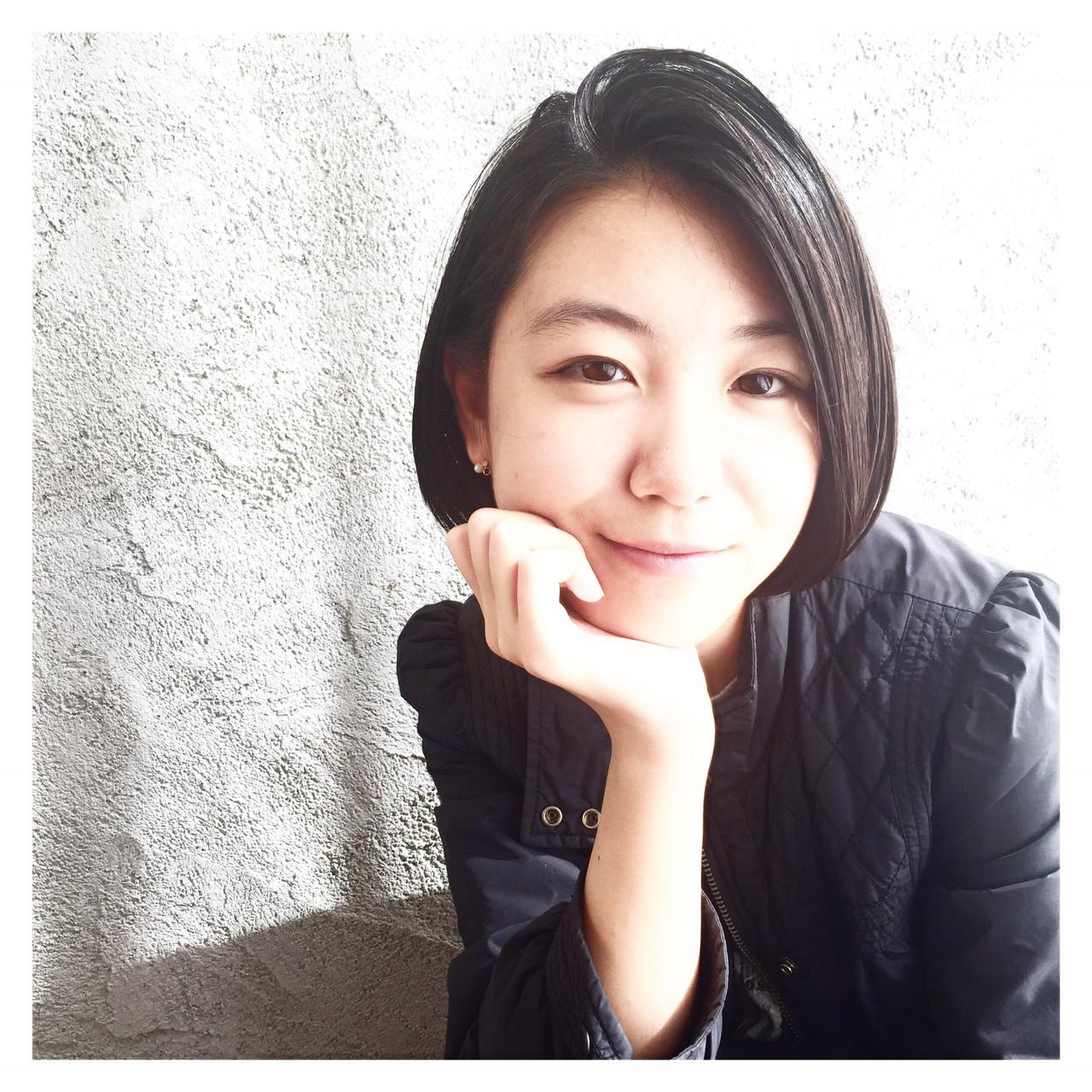 切りっぱなし ナチュラル 黒髪 色気 ヘアスタイルや髪型の写真・画像 | 北崎麻美/LUKE福岡⇄dakotaracy東京 / LUKE FUKUOKA