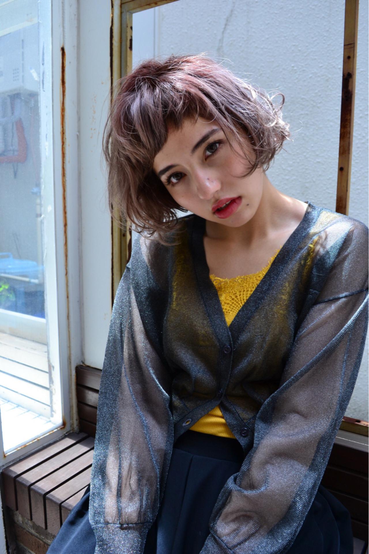透明感 ヘアアレンジ ストリート 秋 ヘアスタイルや髪型の写真・画像