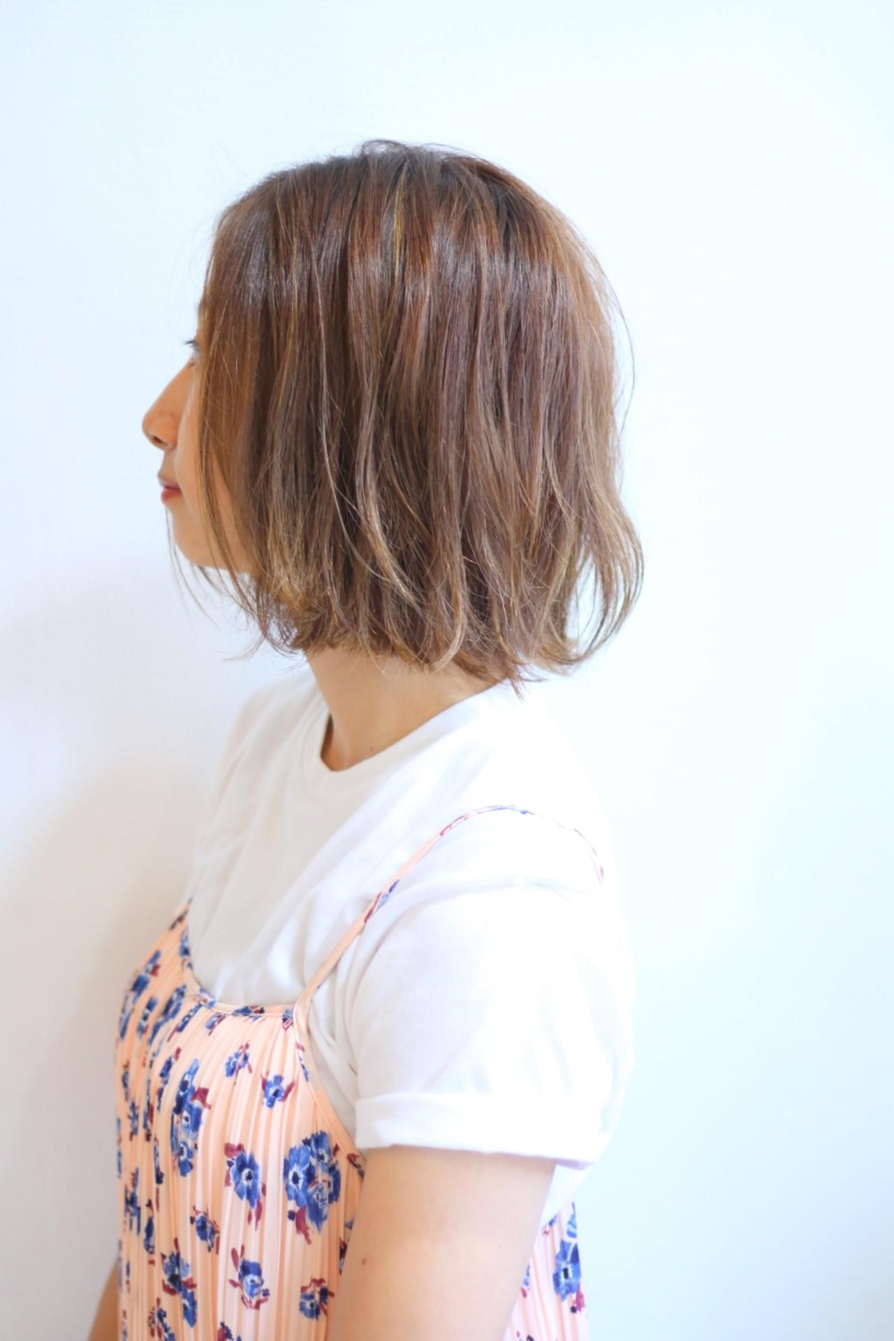 ボブ オフィス リラックス 女子会 ヘアスタイルや髪型の写真・画像 | 川田 義人 GREEK hairdesign / GREEK  hairdesign【グリーク】