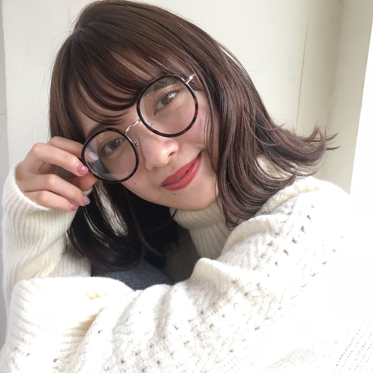 シースルーバング 切りっぱなし ナチュラル デート ヘアスタイルや髪型の写真・画像 | 伊藤愛子 GARDEN / GARDEN  omotesando