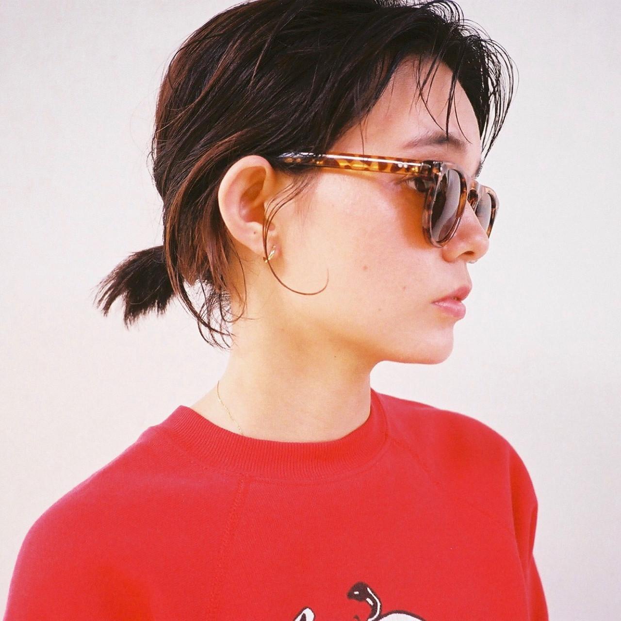 ヘアアレンジ オン眉 ボブ ナチュラル ヘアスタイルや髪型の写真・画像 | 磯田 基徳 / siki