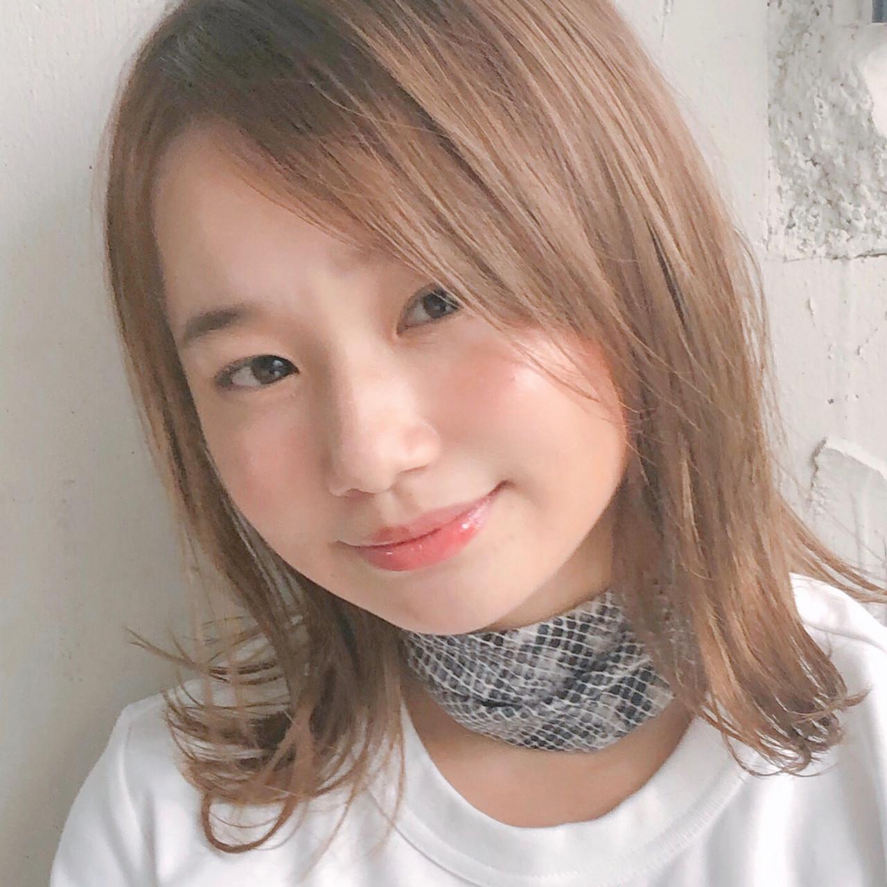 スポーツ アンニュイほつれヘア ミディアム ヘアアレンジ ヘアスタイルや髪型の写真・画像