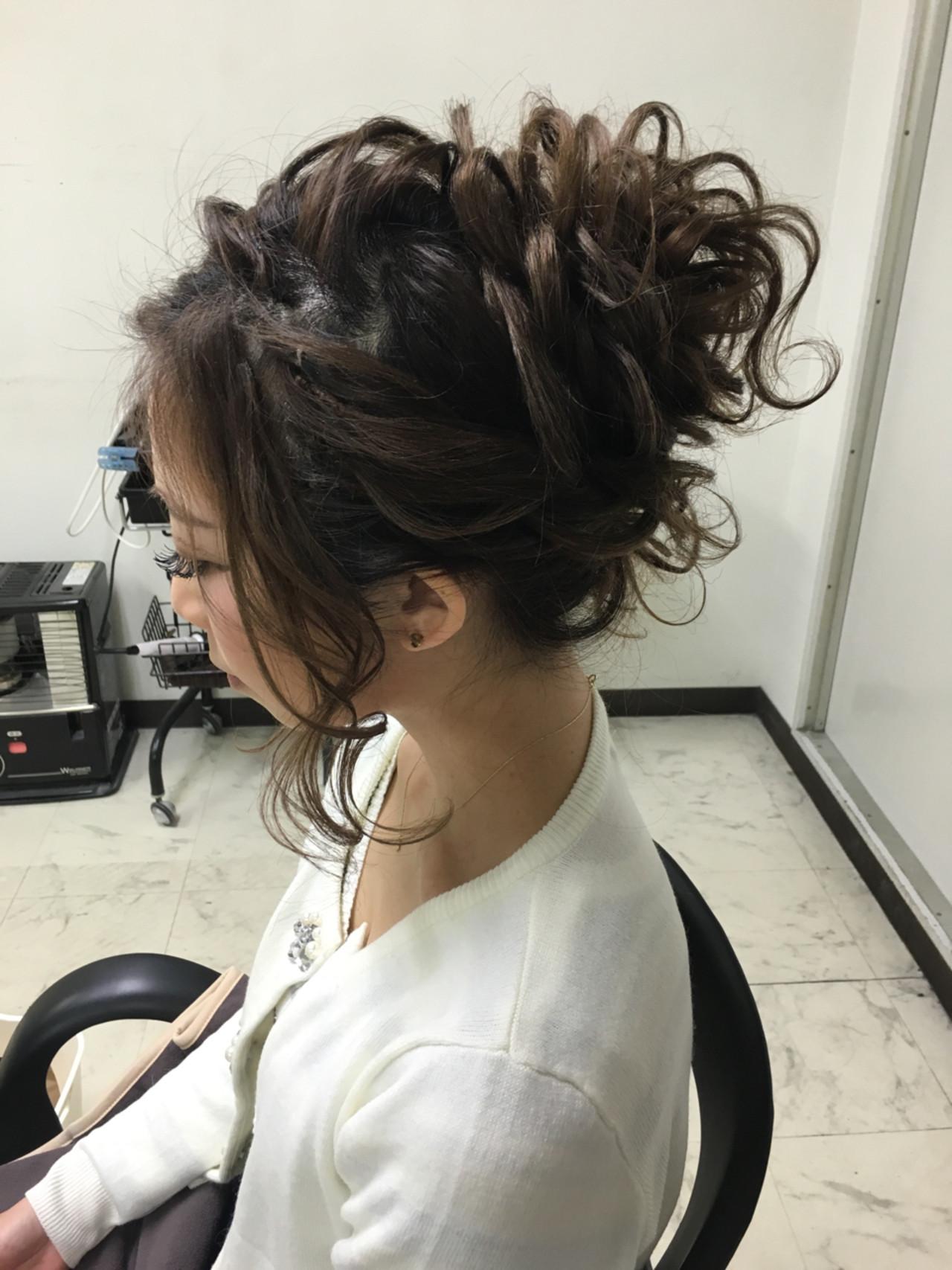波ウェーブ 編み込み 夏 ロング ヘアスタイルや髪型の写真・画像