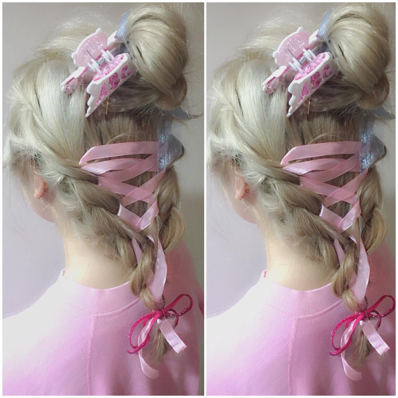 フェミニン ハーフアップ ゆるふわ 簡単ヘアアレンジ ヘアスタイルや髪型の写真・画像