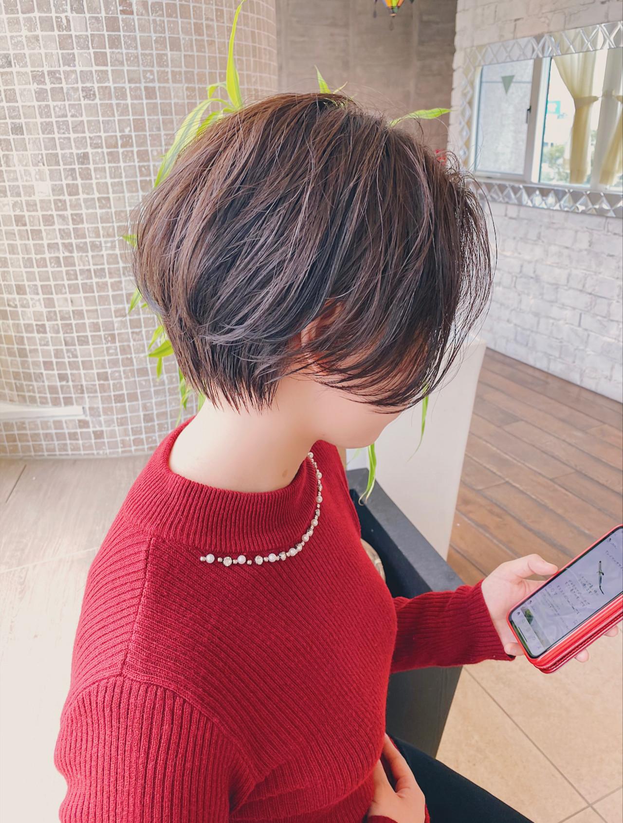 ナチュラル ミニボブ ショートボブ ショートヘア ヘアスタイルや髪型の写真・画像 | 河村 博之 名古屋 栄 リュドール栄 / リュドール栄