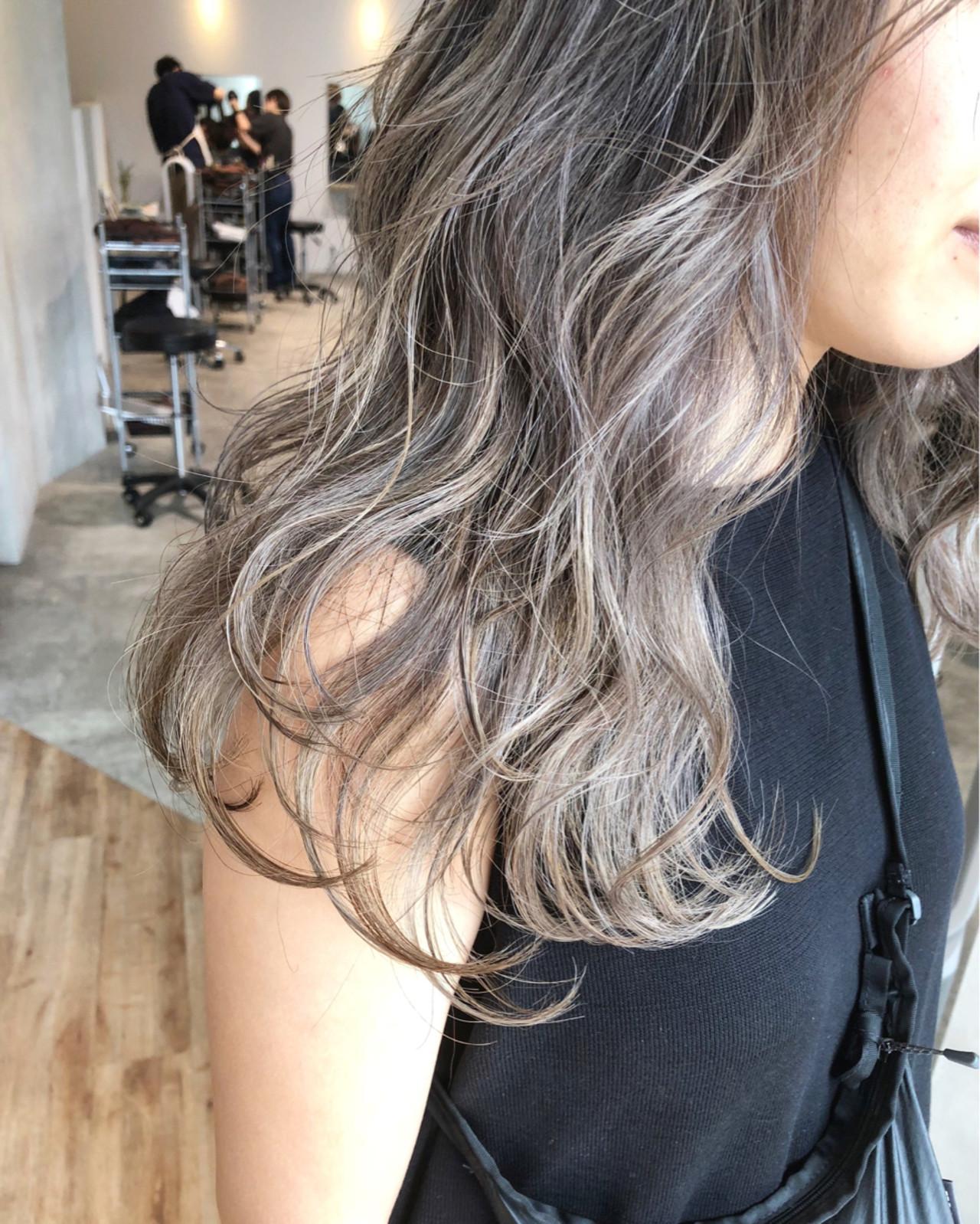ロング ストリート 女子力 アッシュ ヘアスタイルや髪型の写真・画像