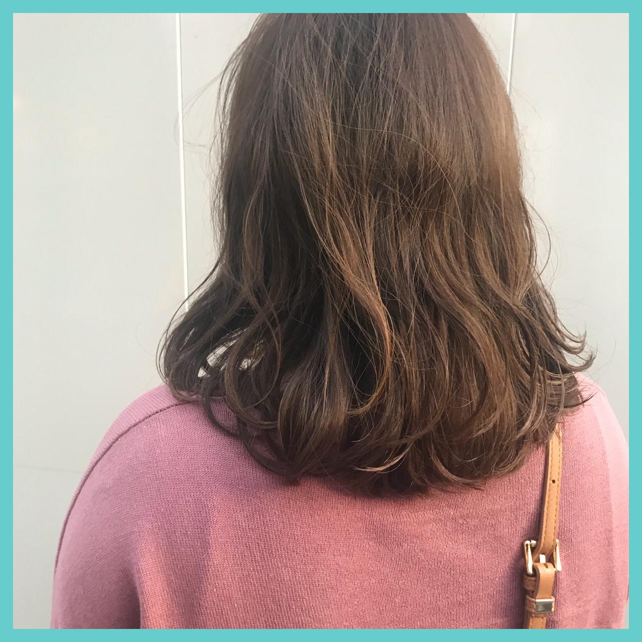 ゆるふわ 愛され モテ髪 ミディアム ヘアスタイルや髪型の写真・画像 | aya / RITA&Co.大宮東口店