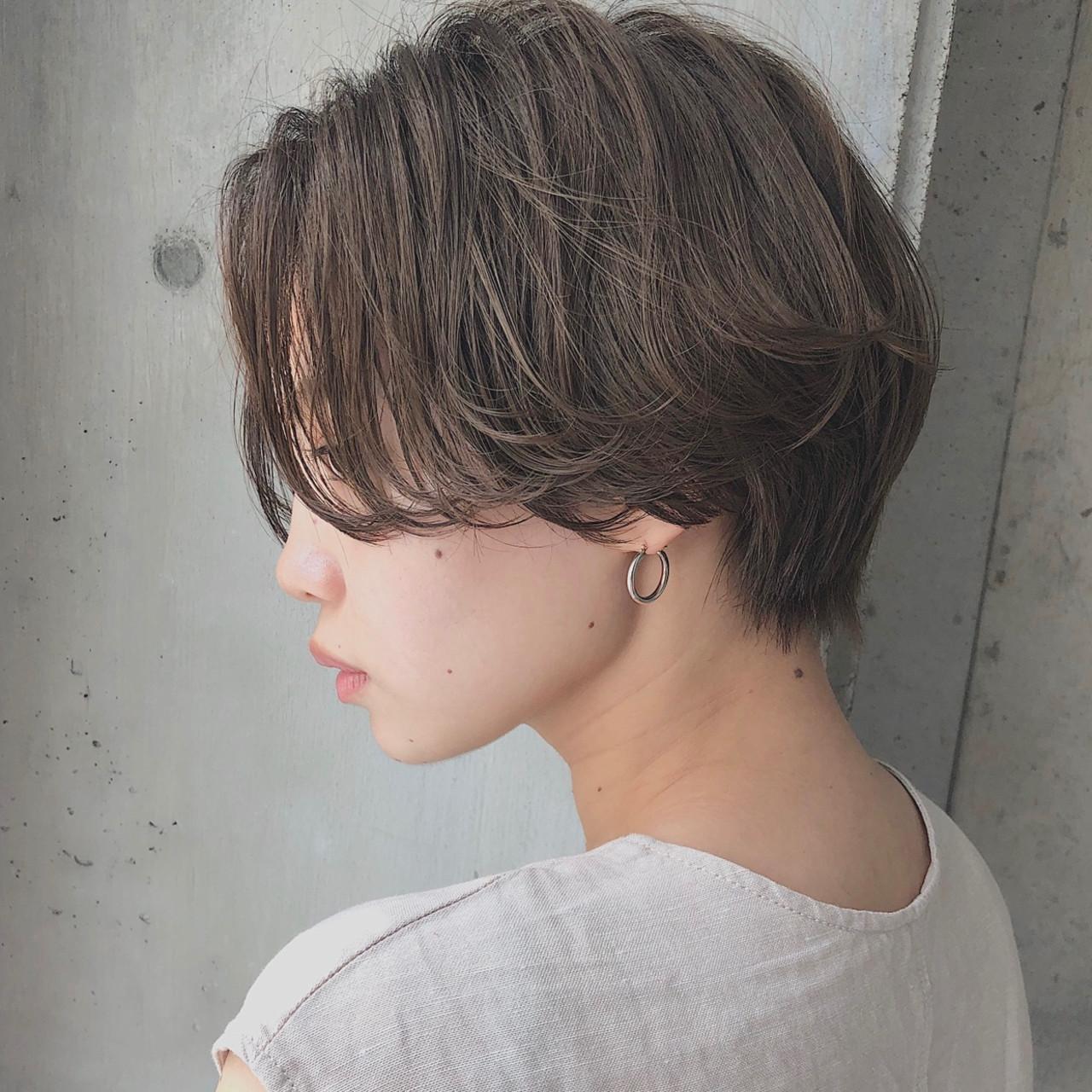 ショートボブ ナチュラル ハンサムショート ショート ヘアスタイルや髪型の写真・画像 | 石川有里彩 / リュドール栄